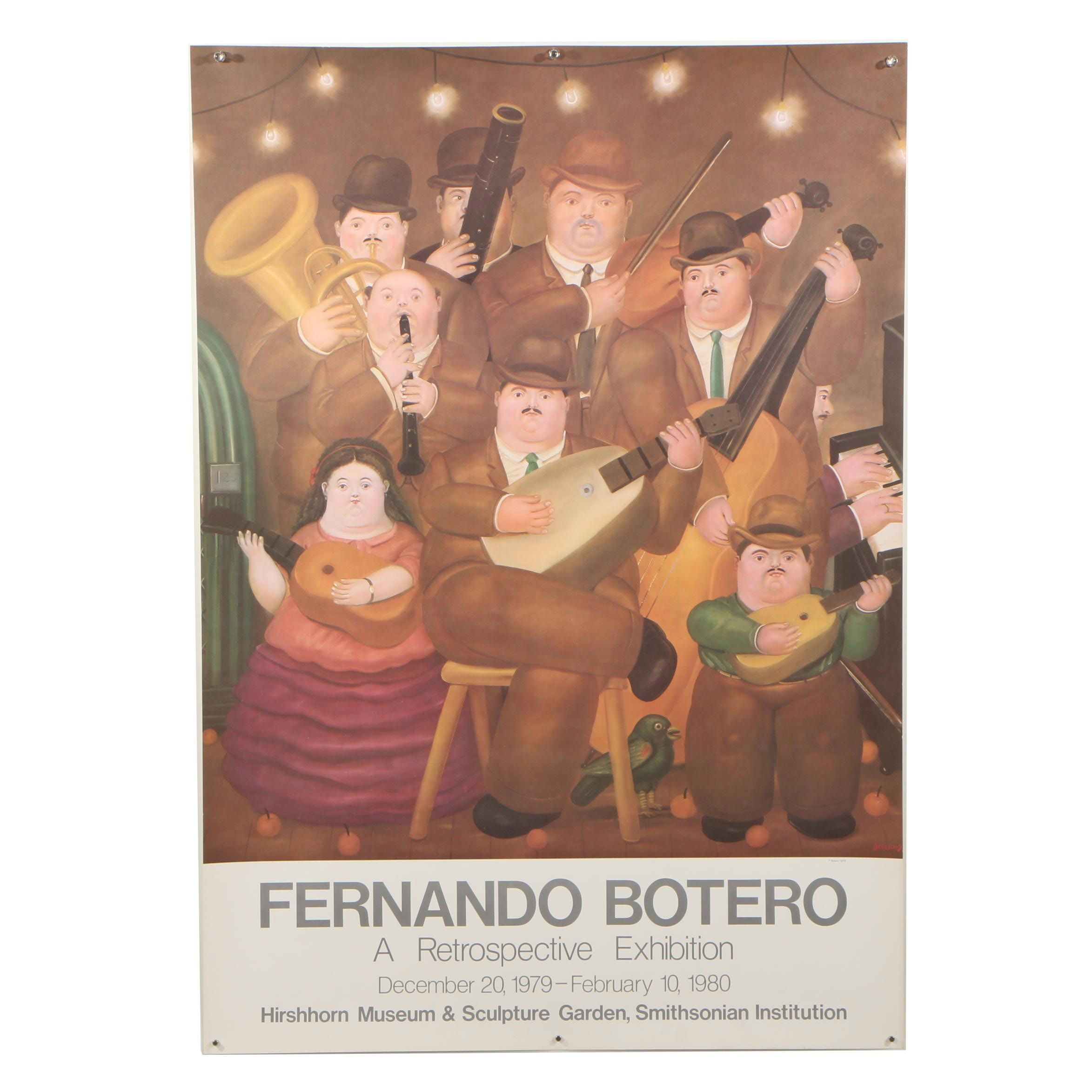 "Exhibition Poster after Fernando Botero ""Los Musicos"""