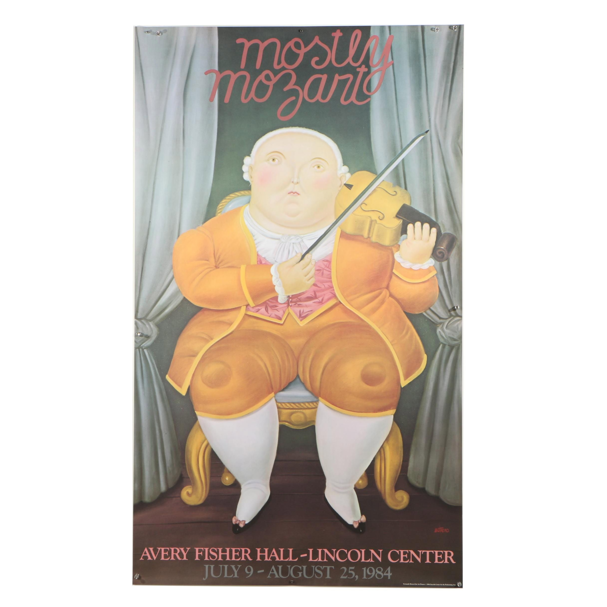 "Exhibition Poster after Fernando Botero ""Mostly Mozart"""
