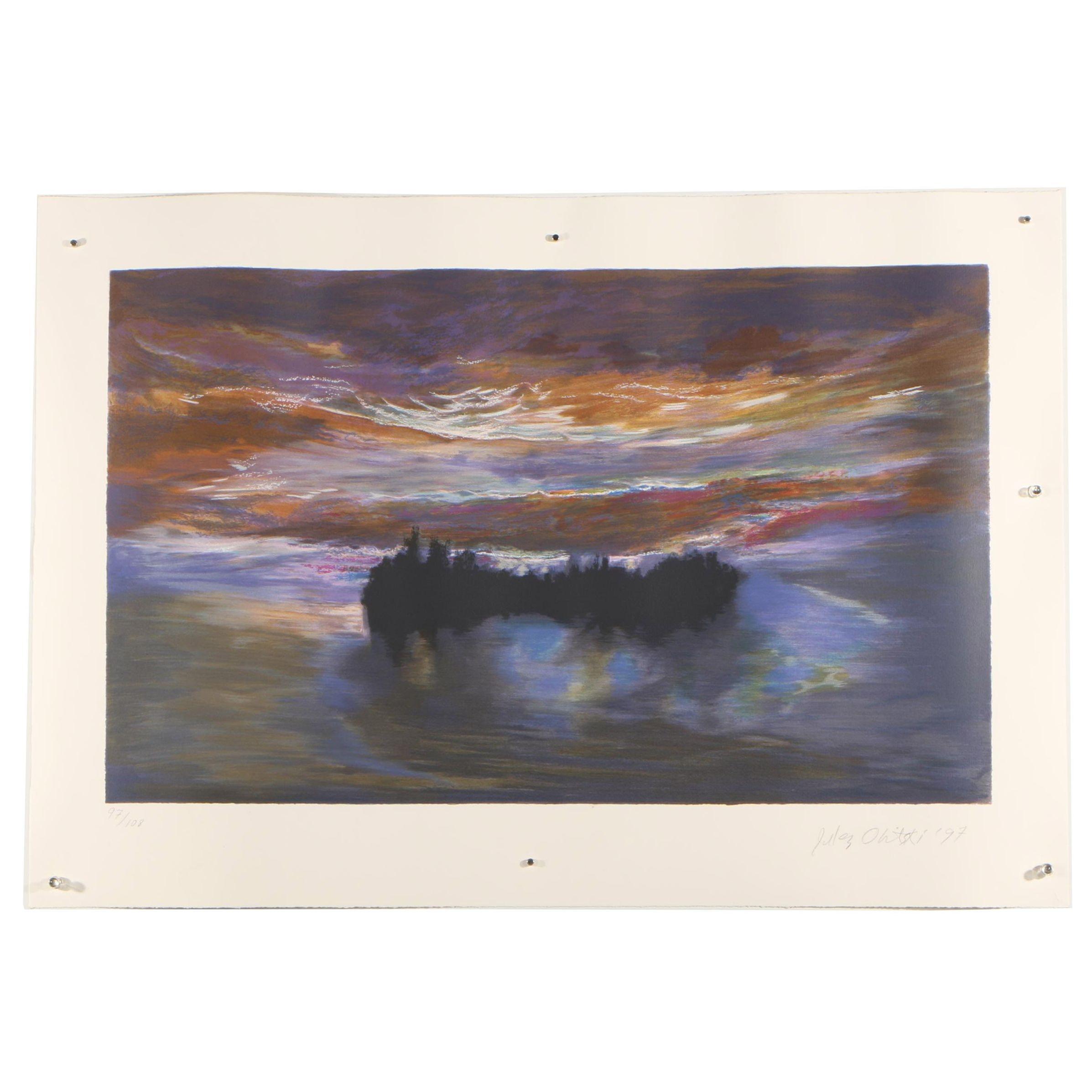 "Jules Olitski 1997 Serigraph ""Luminous Dawn"""