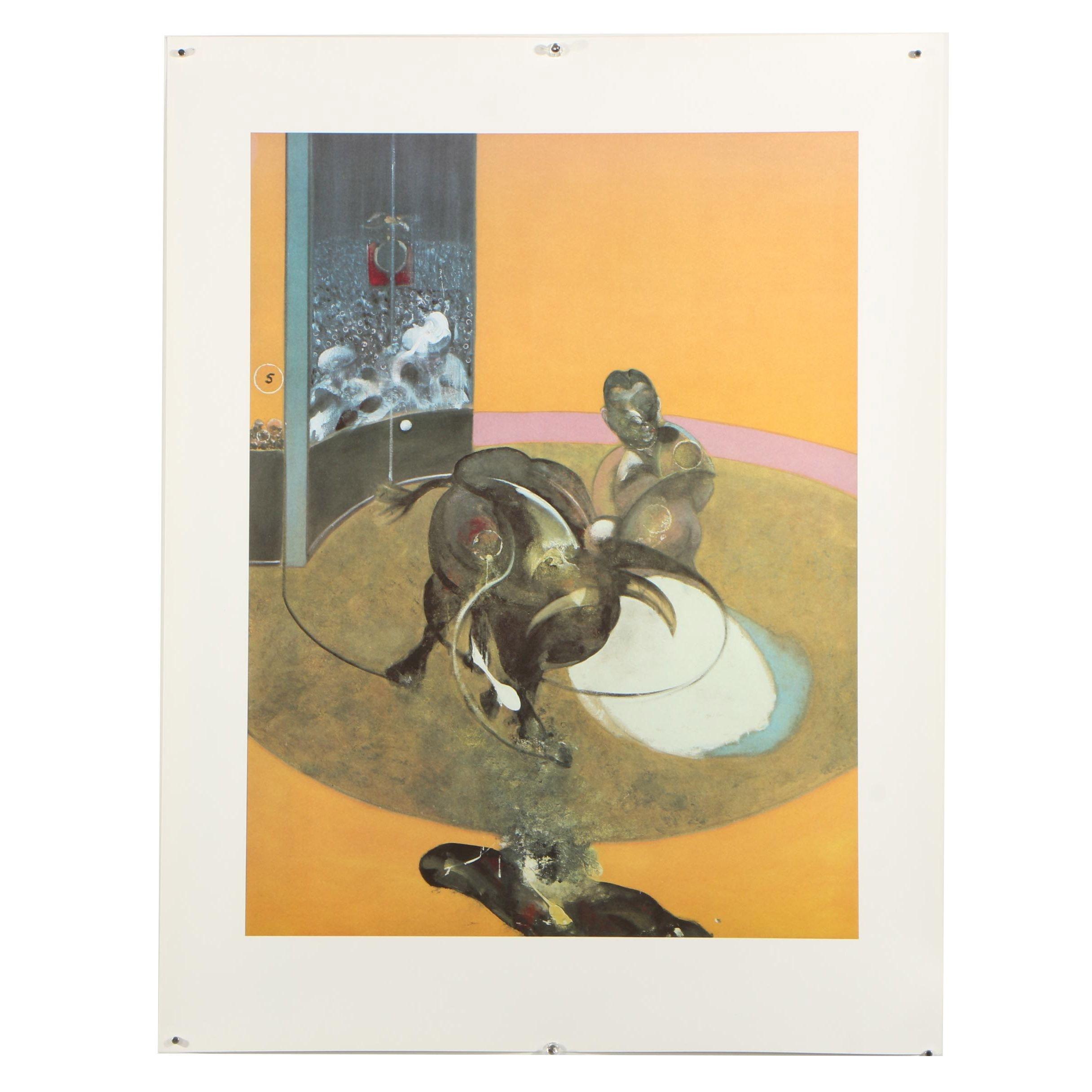 "Offset Lithograph After Francis Bacon ""Etude pour une corrida N° 2"""
