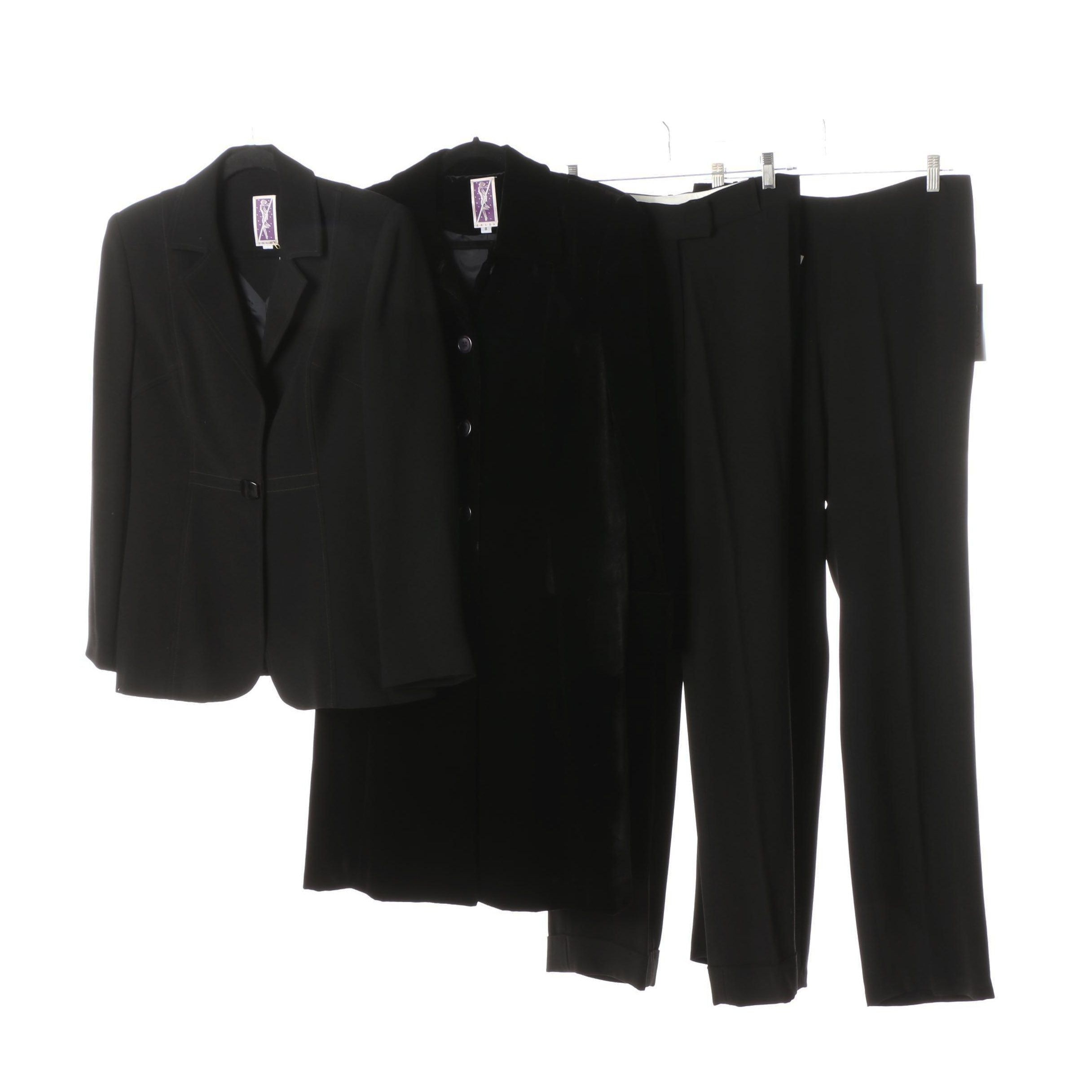 Women's Zelda Collection Black Pantsuit and Separates
