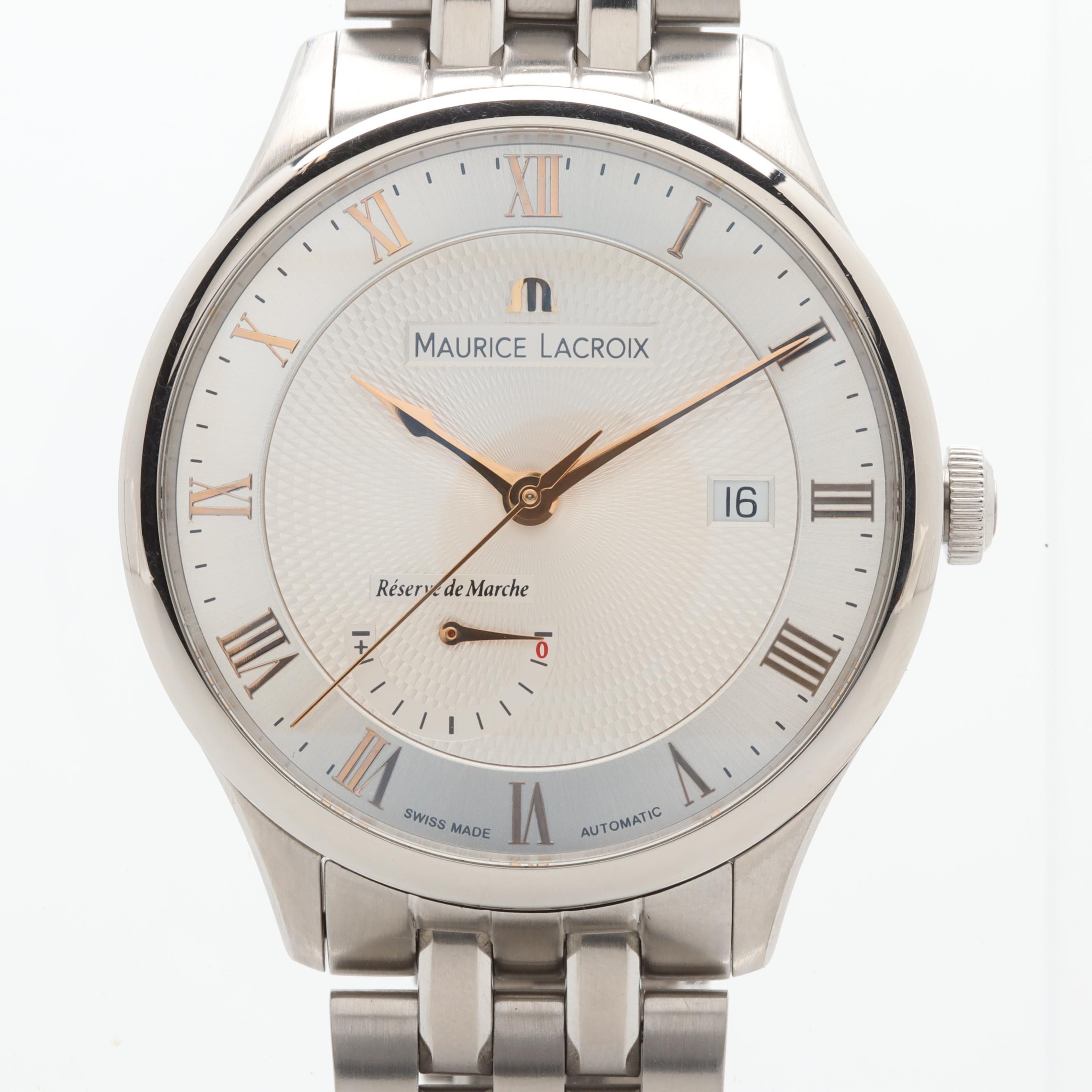 Maurice Lacroix Masterpiece Reserve de Marche Automatic Wristwatch