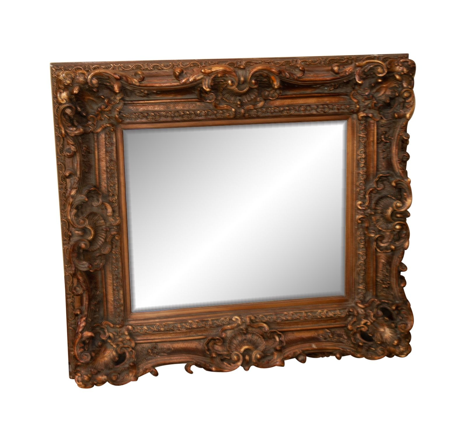Rococo Style Wall Mirror with Rocialle Decoration