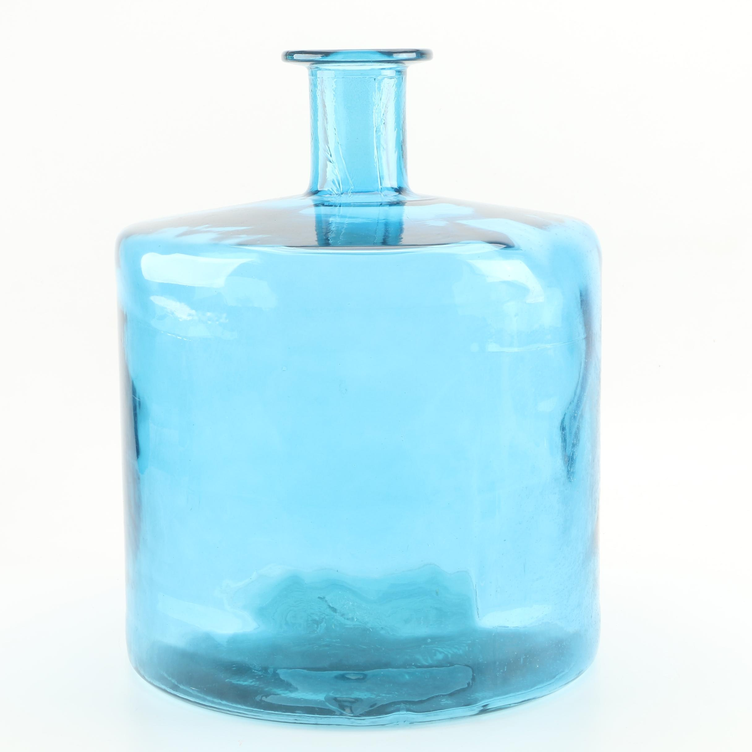 Large Vintage Blue Glass Jug