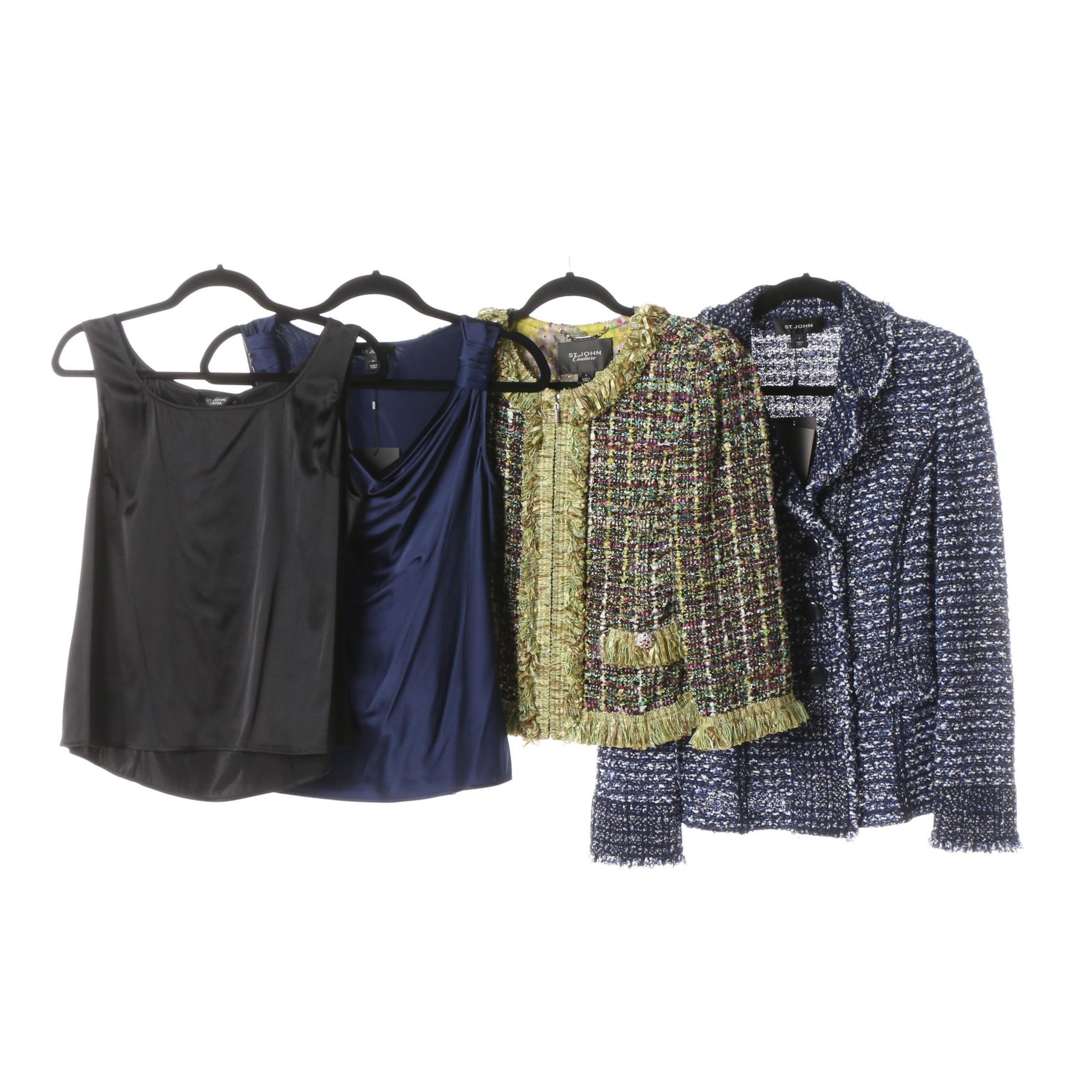 Women's St. John Brand Jackets and Tops Including St. John Couture and Caviar