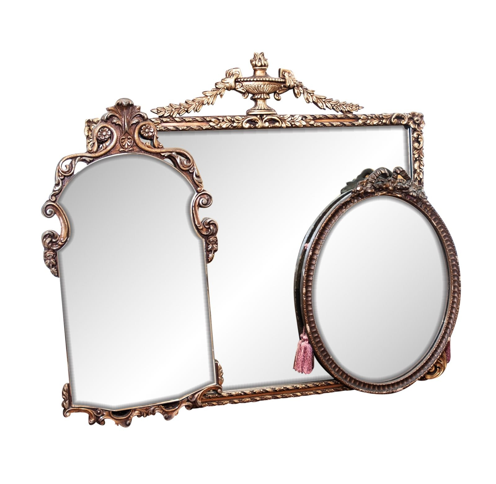 Three Neoclassical Style Gilt Wall Mirrors