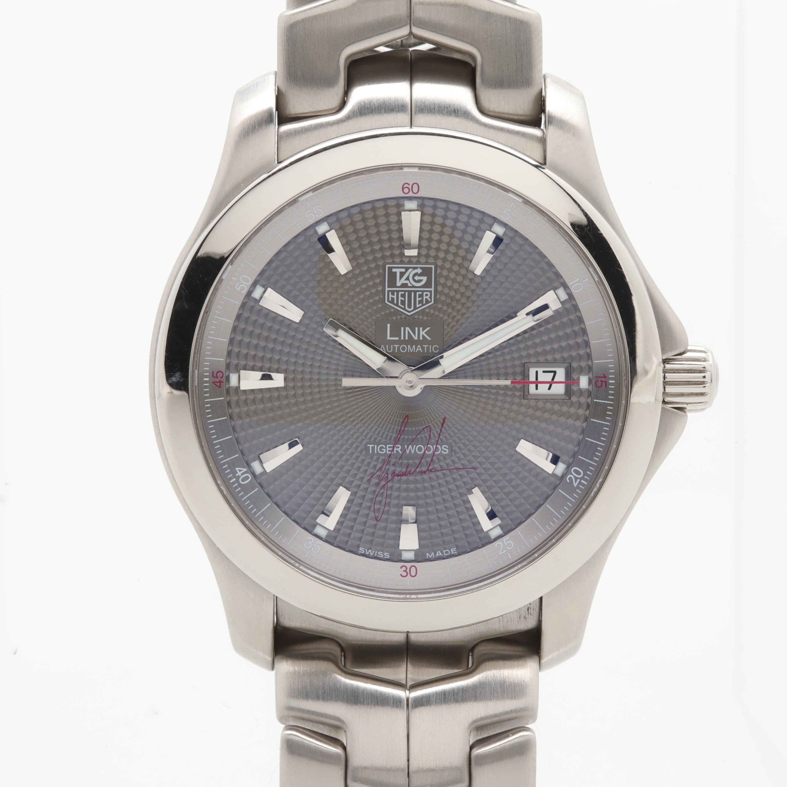 TAG Heuer Link Tiger Woods Limited Edition Stainless Steel Wristwatch