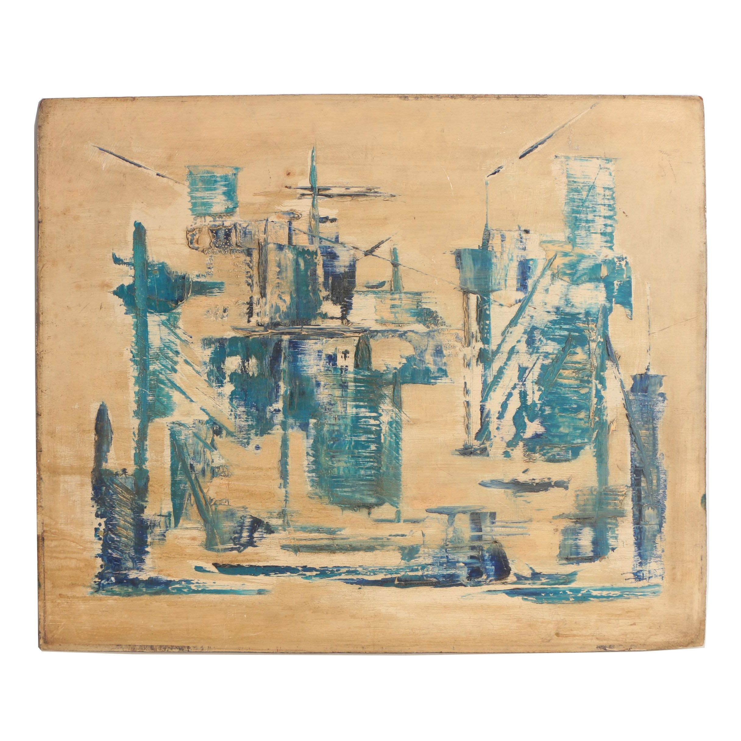 Mid 20th Century Abstract Oil Painting