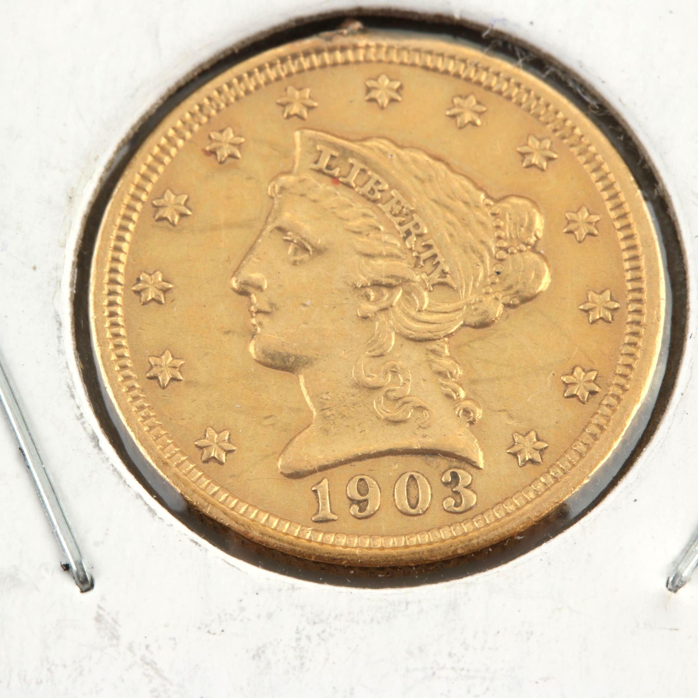 1903 Liberty Head $2.50 Gold Quarter Eagle
