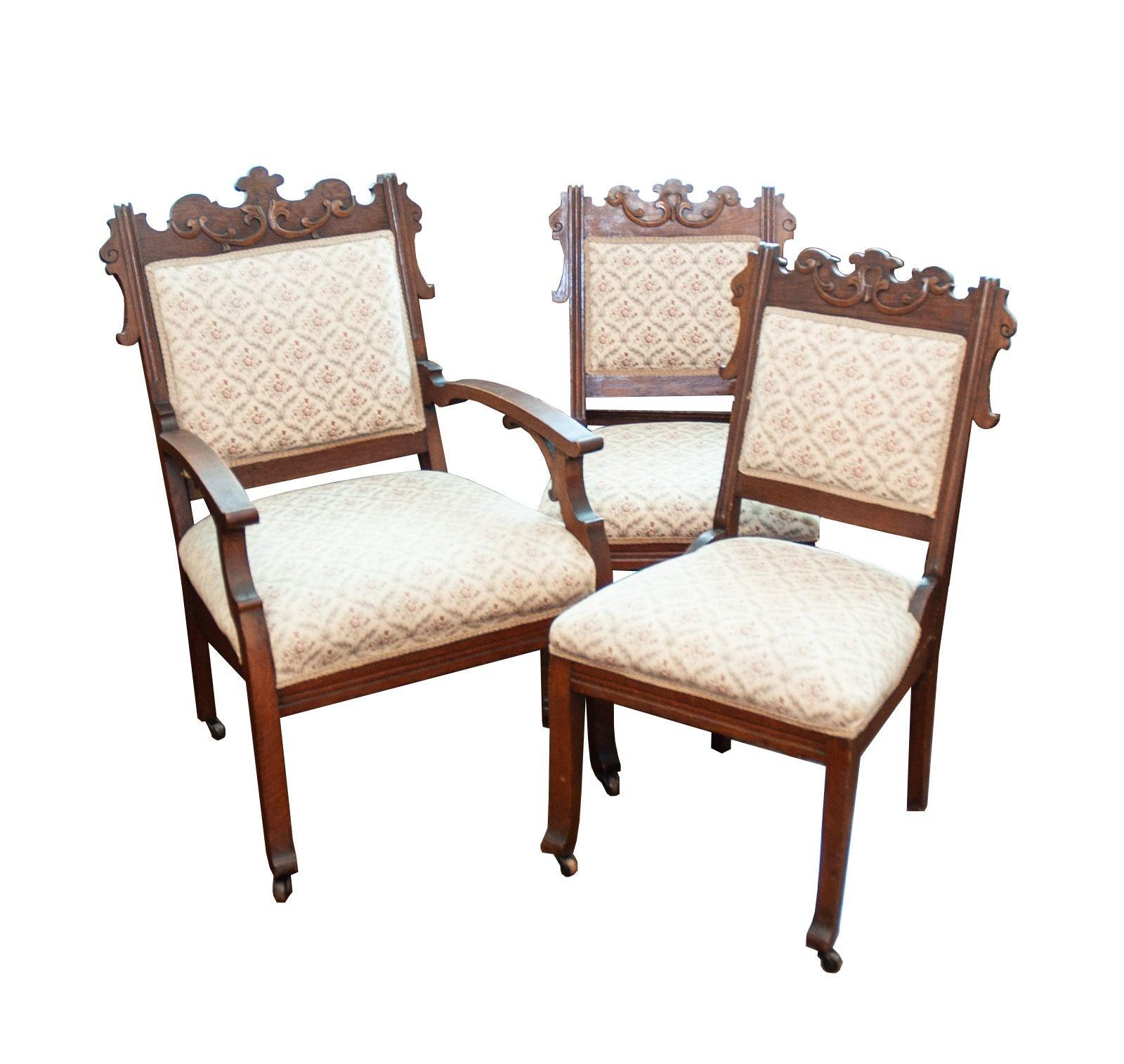 Antique Walnut Victorian Chairs