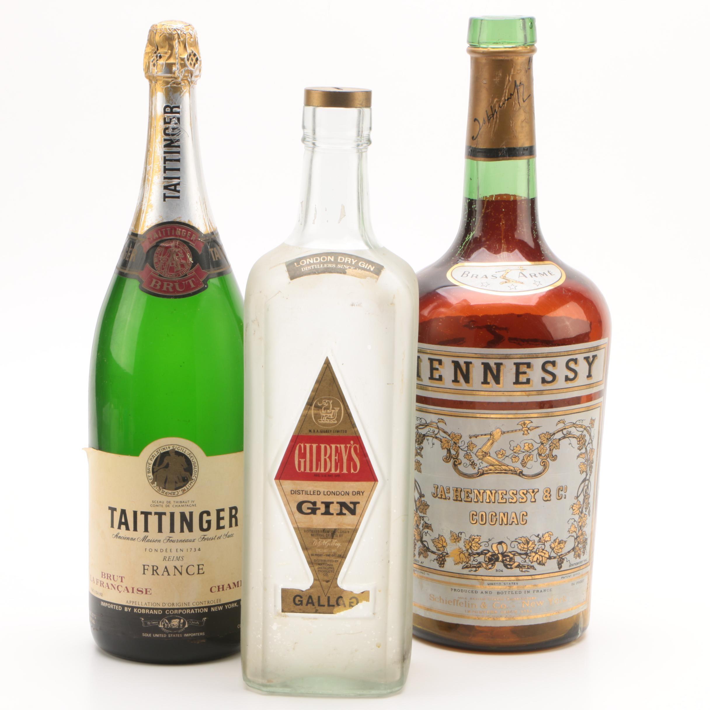 Oversized Champagne and Liquor Advertising Bottles