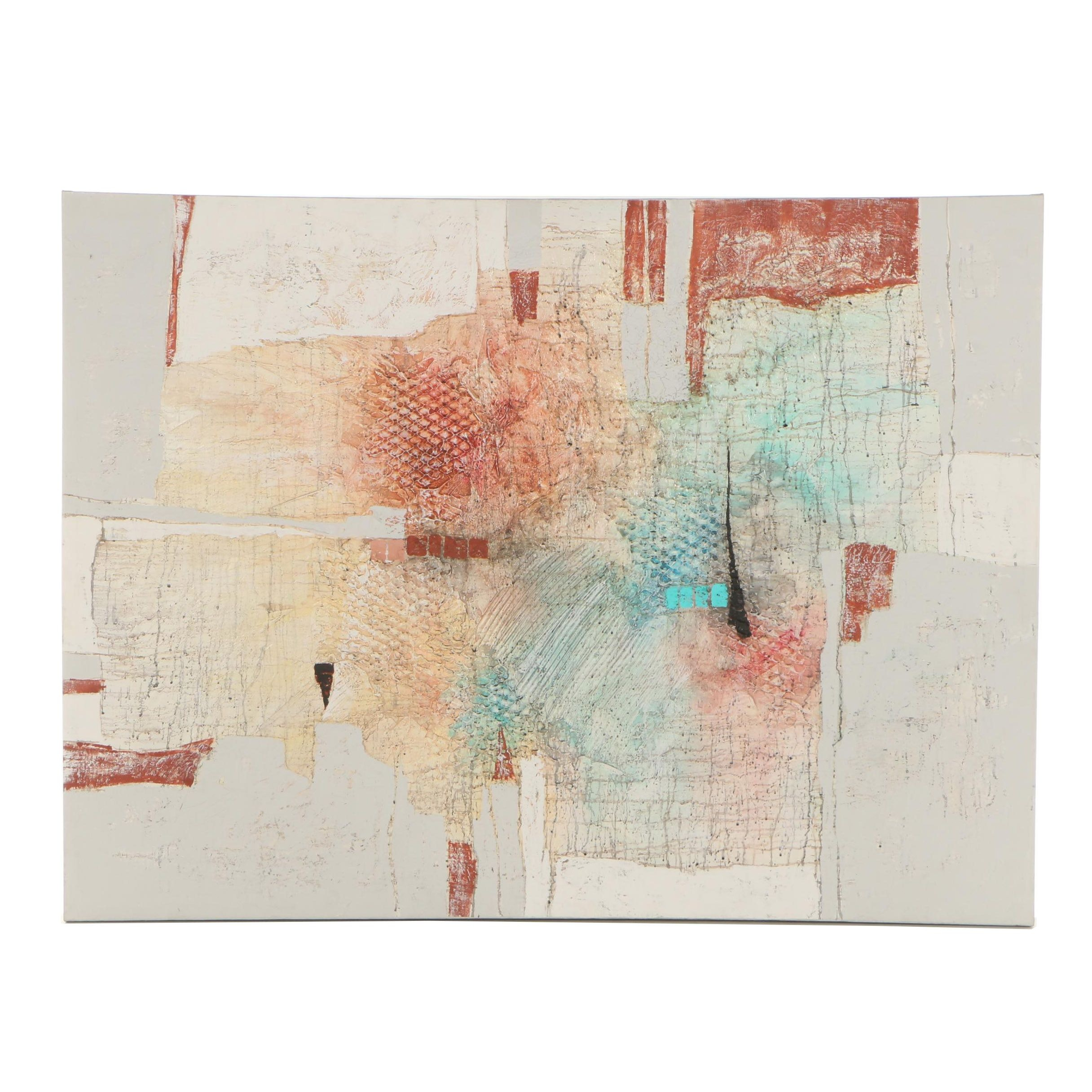 Abstract Acrylic Mixed Media Painting