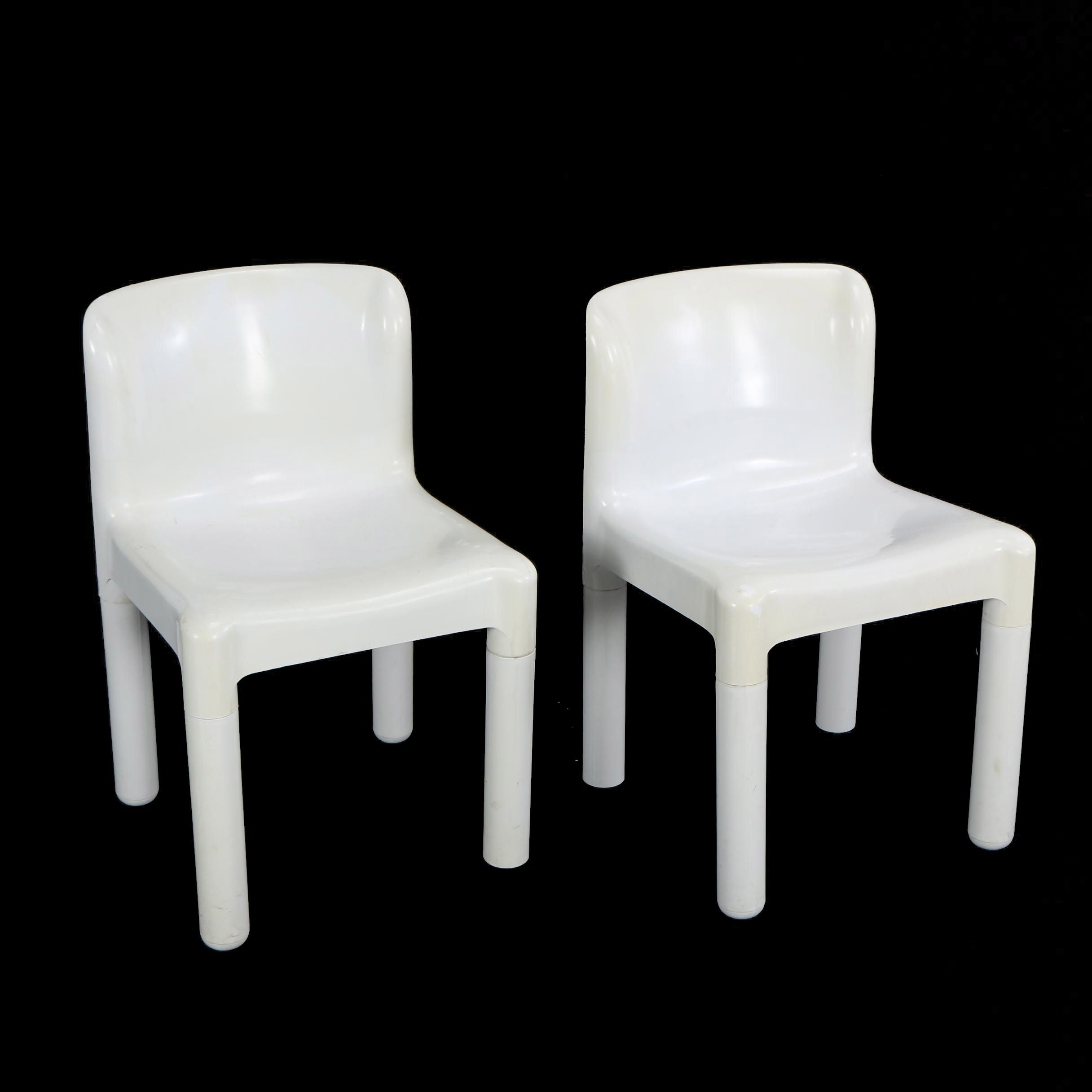 "Kartell ""Model 4875"" Molded Chairs Designed by C. Bartoli"