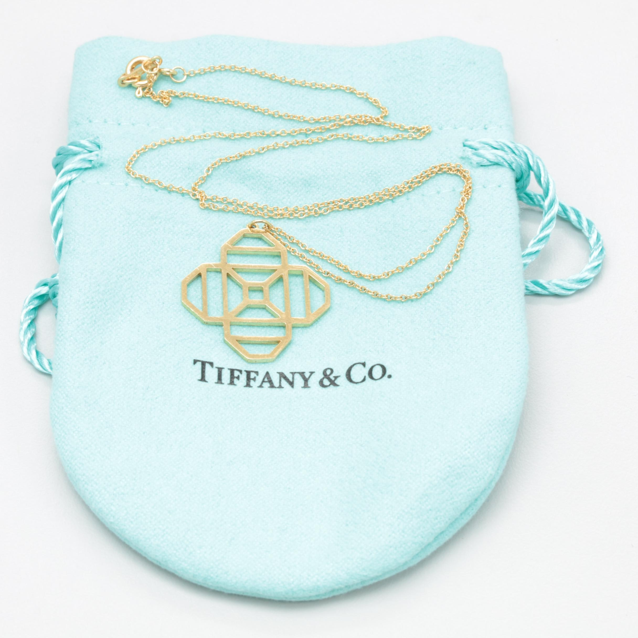 "Paloma Picasso for Tiffany & Co. ""Zellige Collection"" 18K Yellow Gold Necklace"