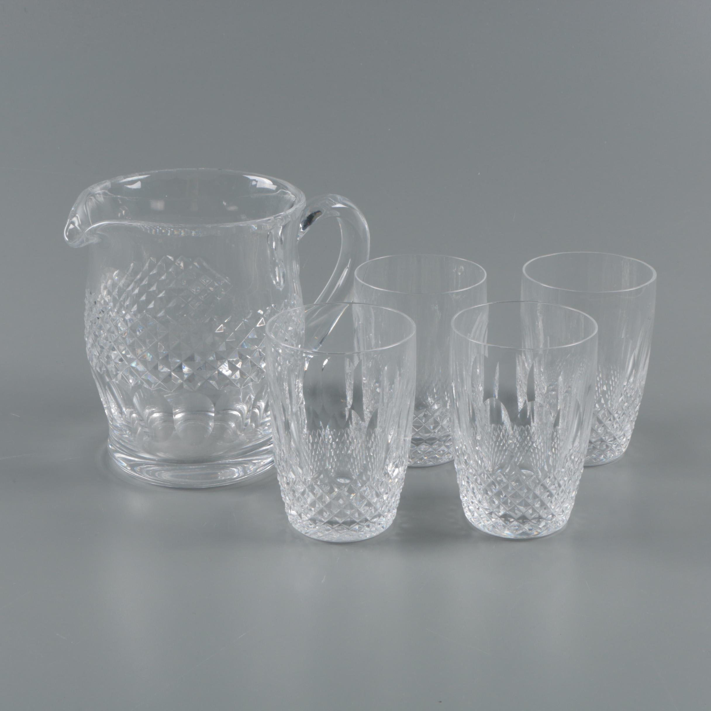 """Waterford Crystal """"Colleen Short Stem"""" Pitcher and Tumblers"""