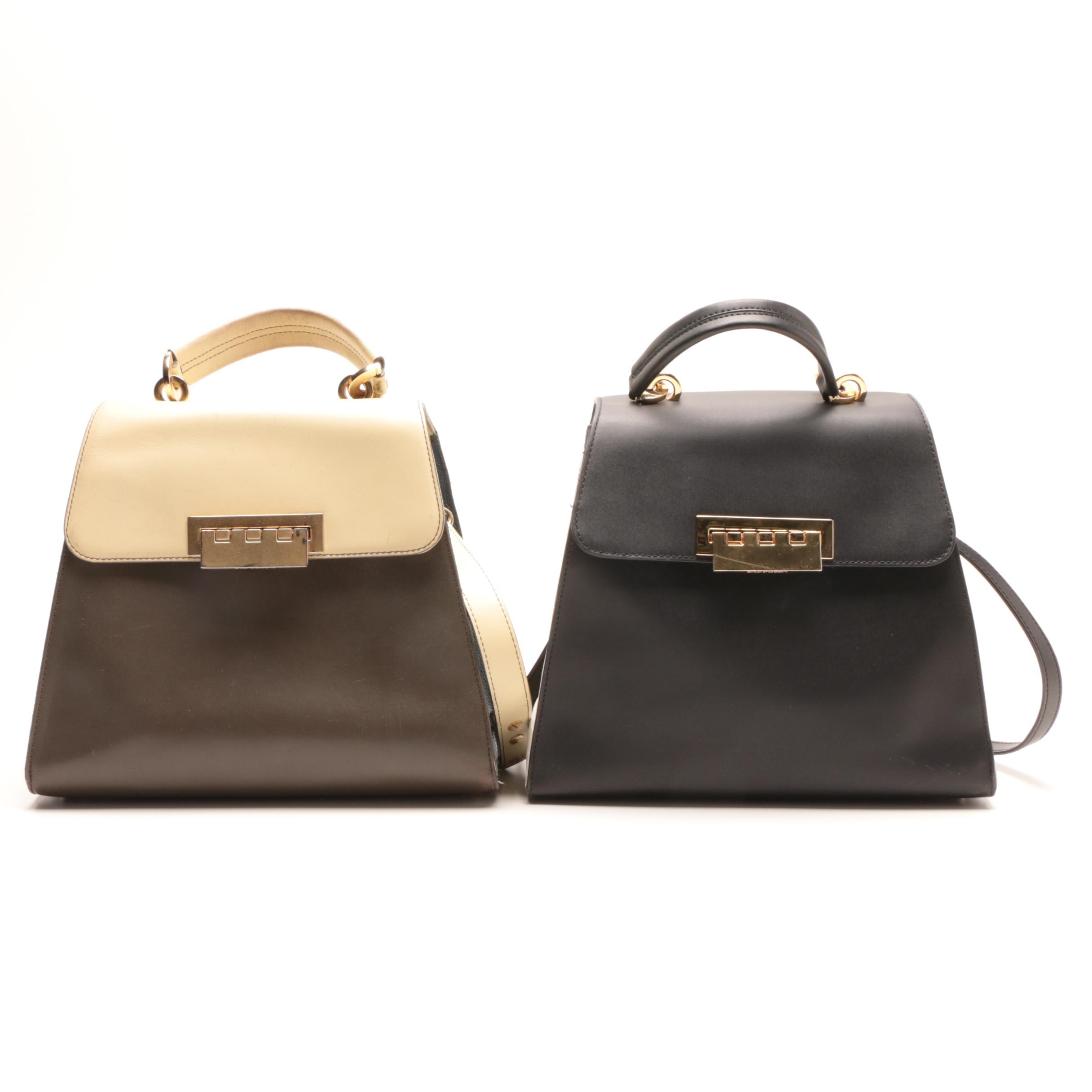 ZAC Zac Posen Eartha Iconic Leather Satchels