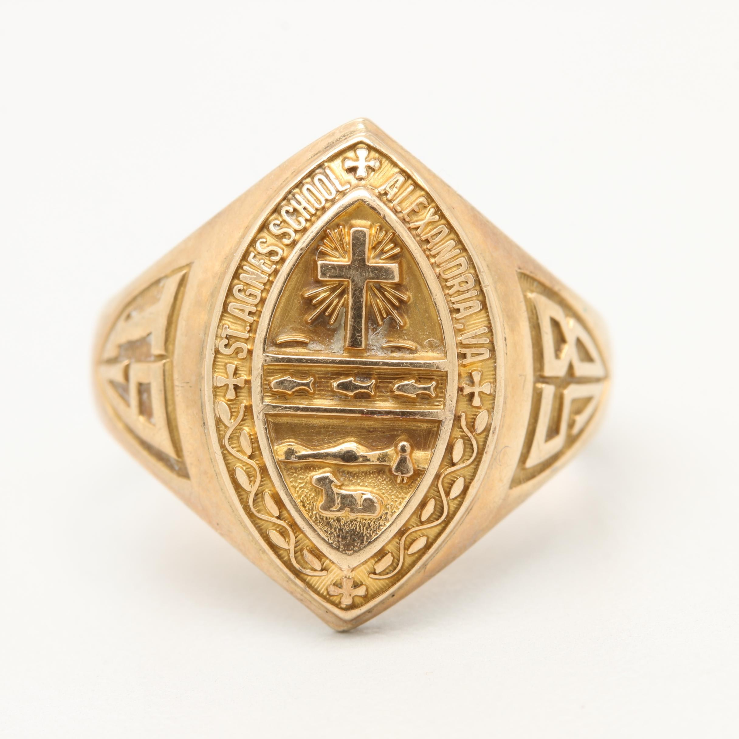 Circa 1958 10K Yellow Gold Class Ring