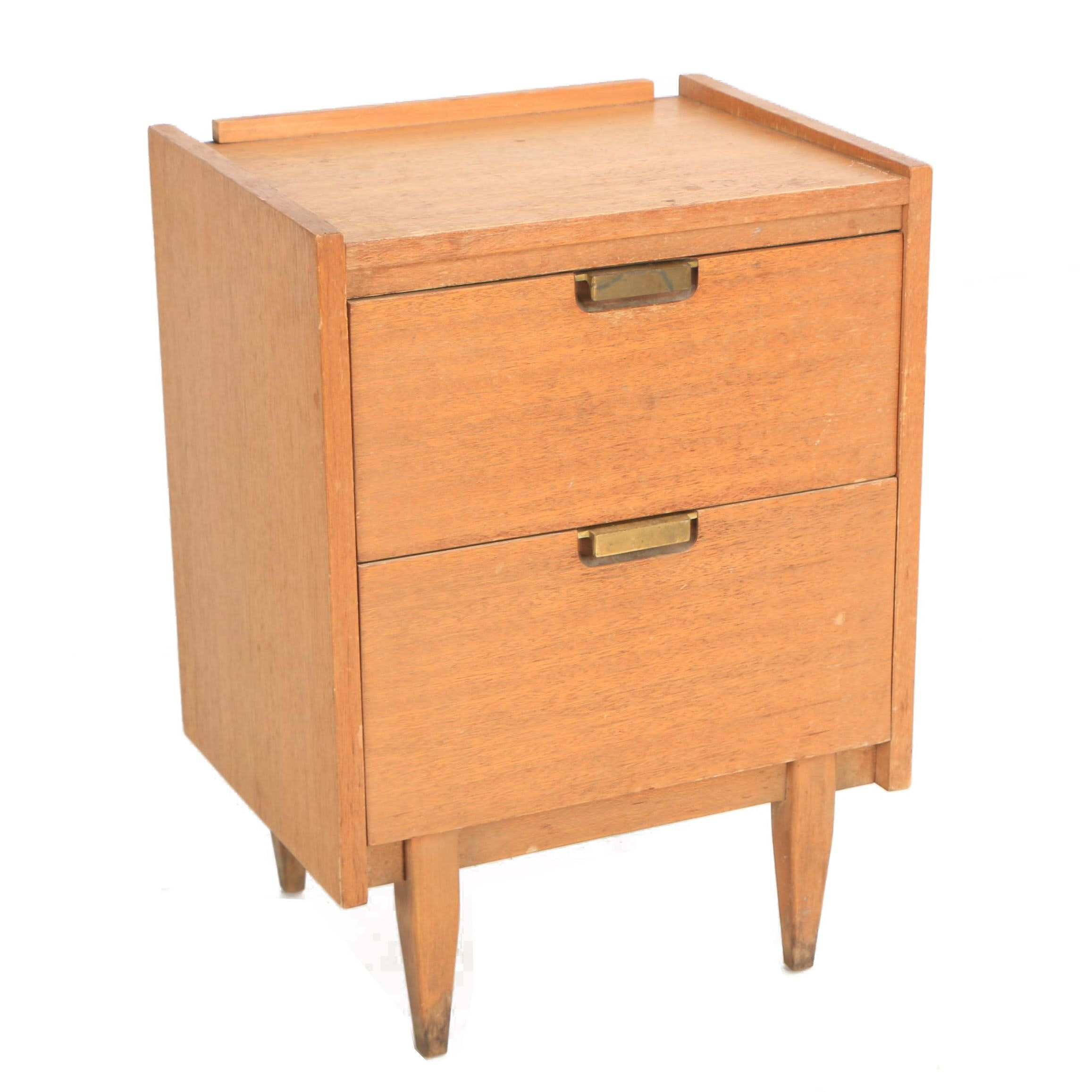 Mid Century Modern Wooden Nightstand