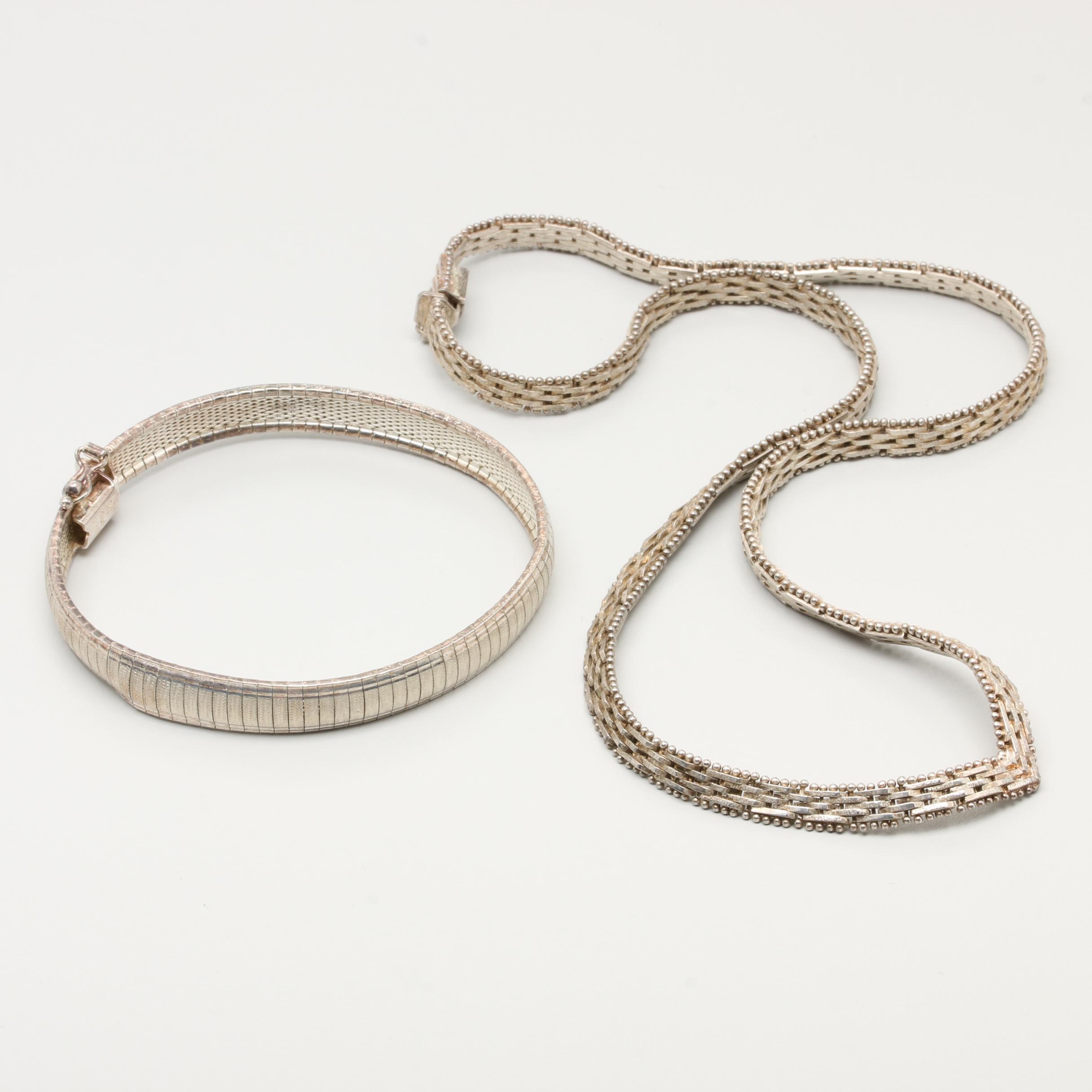 Sterling Silver Custom Link Bracelet and Necklace