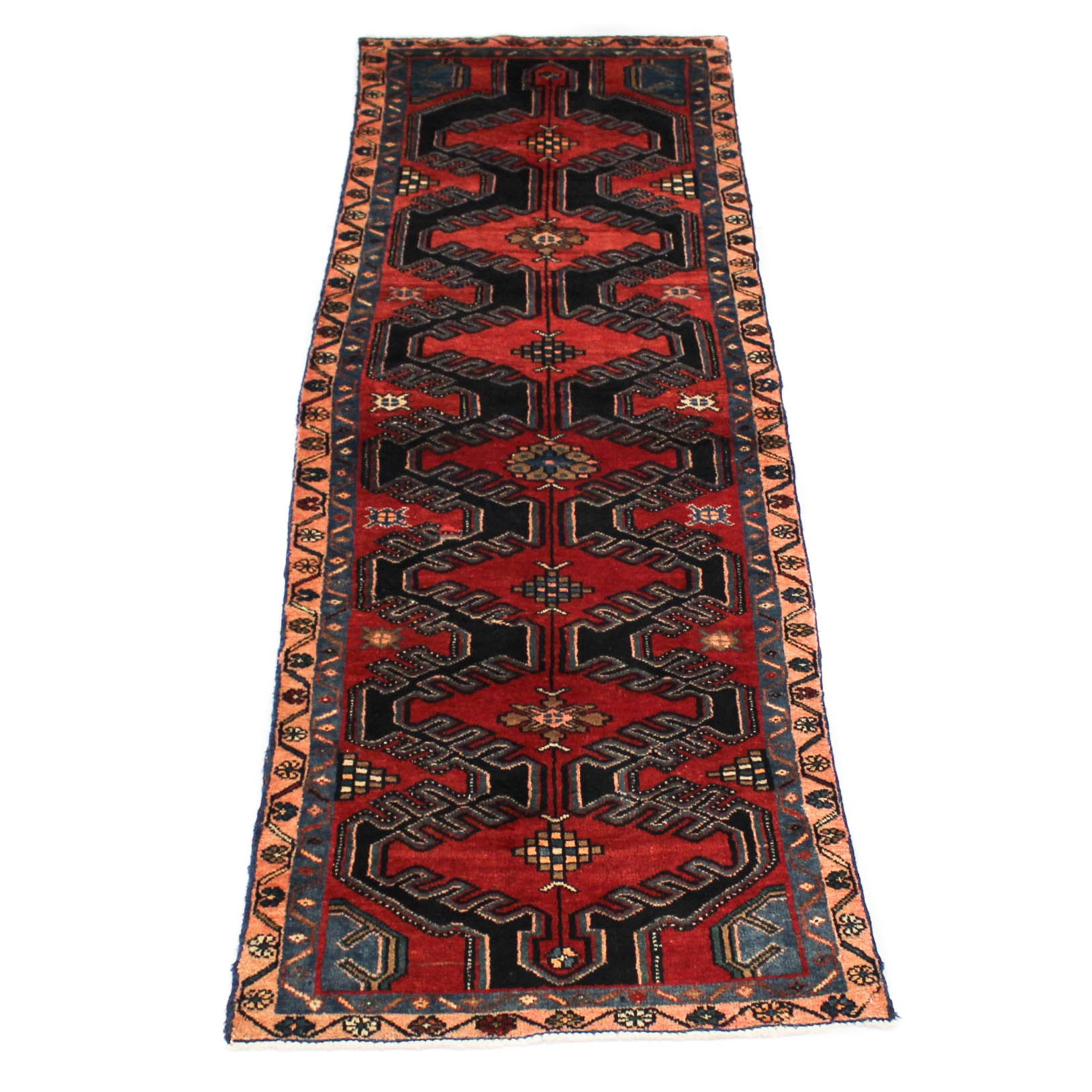 Semi-Antique Hand-Knotted Northwest Persian Carpet Runner