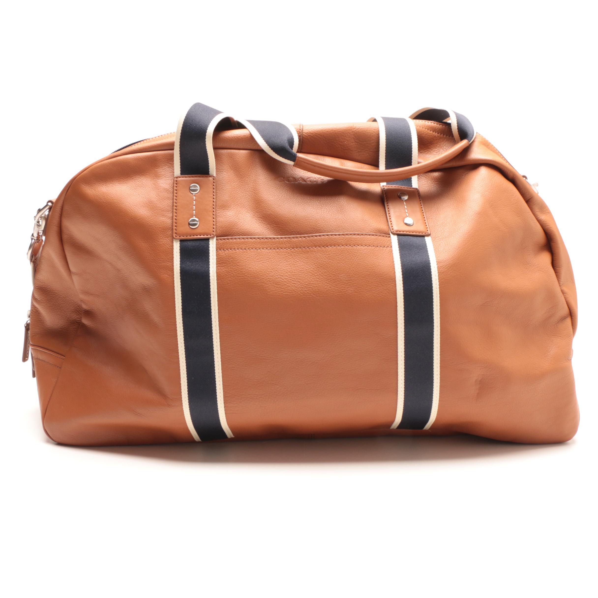 Coach Heritage Web Leather Duffel