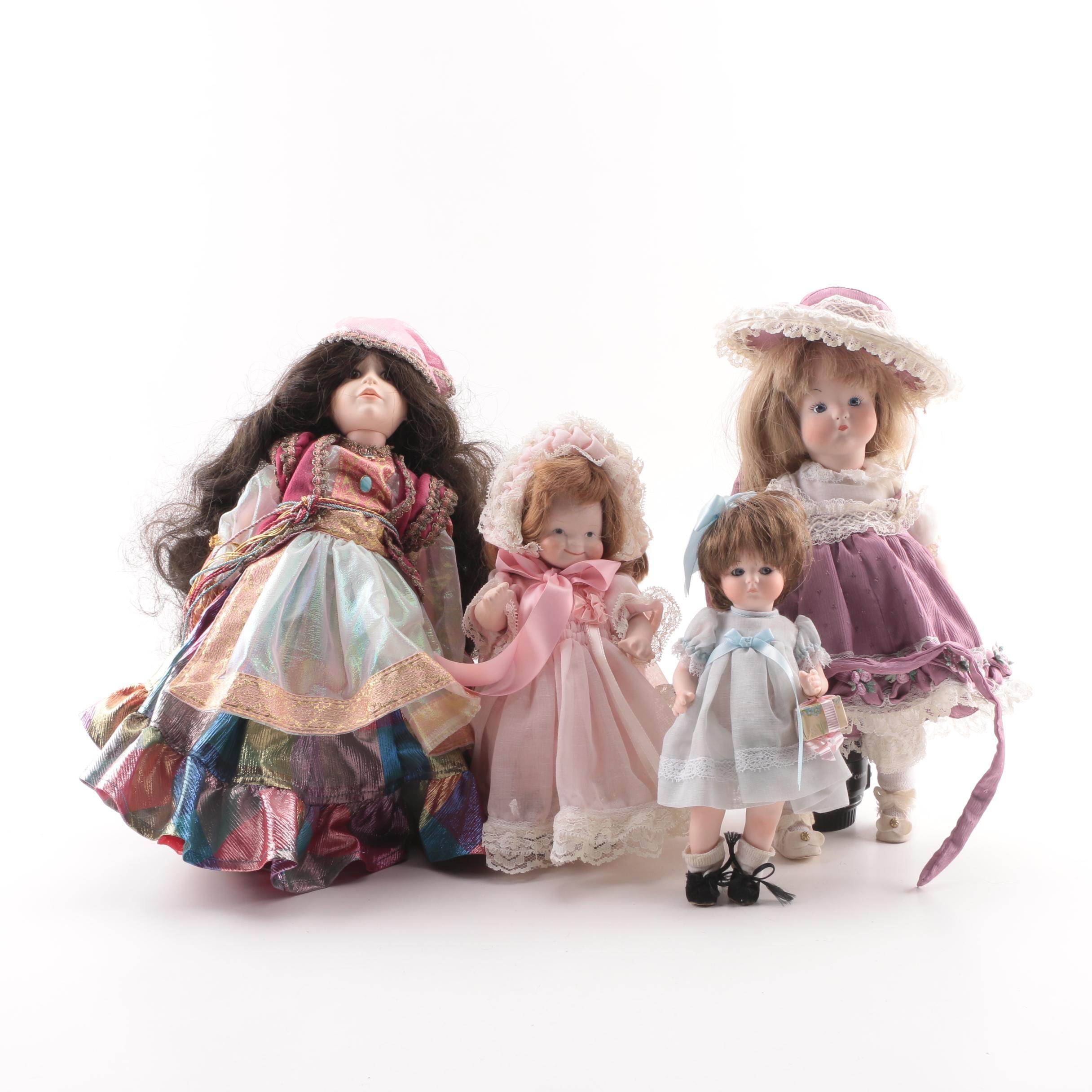 Vintage German Porcelain Dolls Featuring Carol Turpin