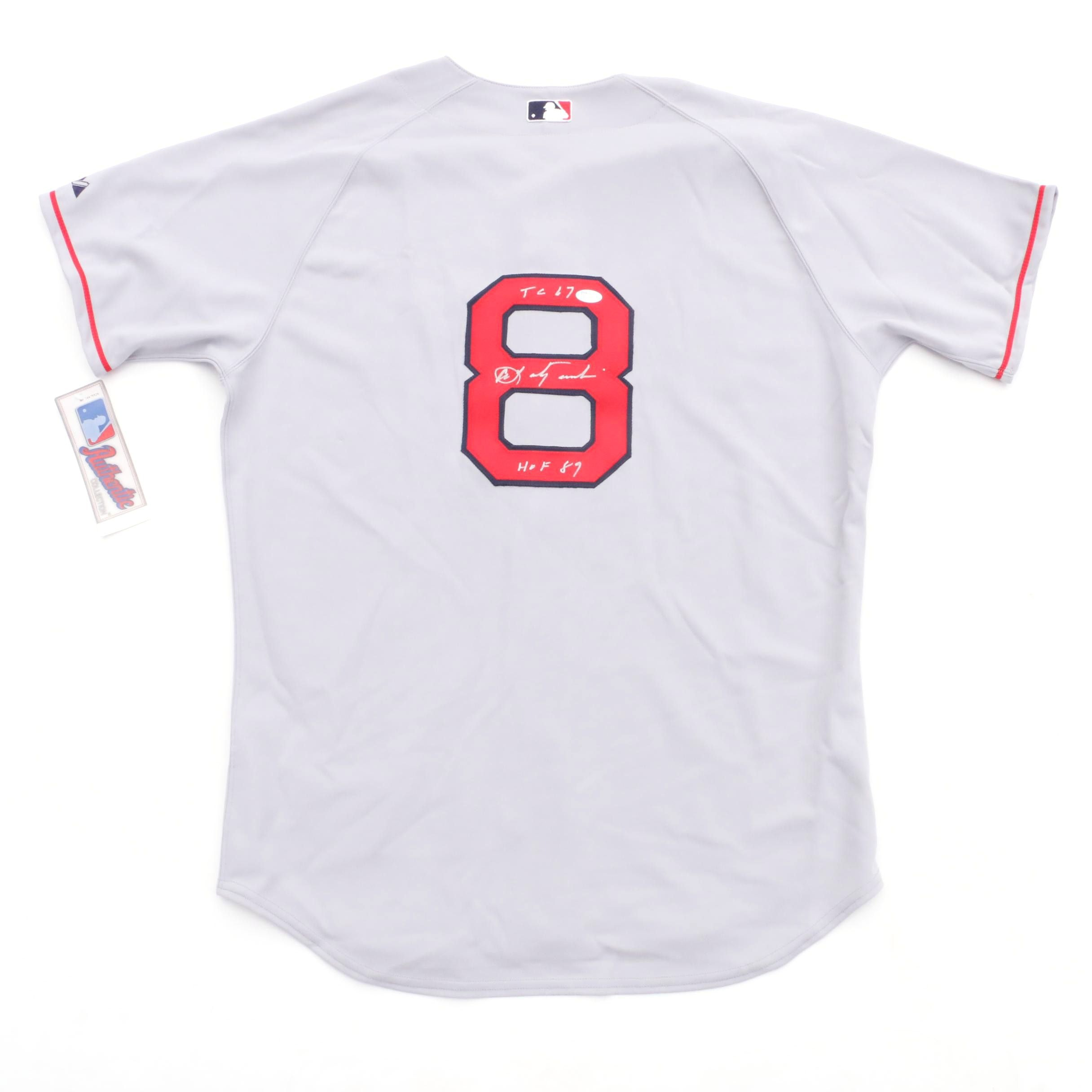 Carl Yastrzemski Signed Red Sox Jersey  COA