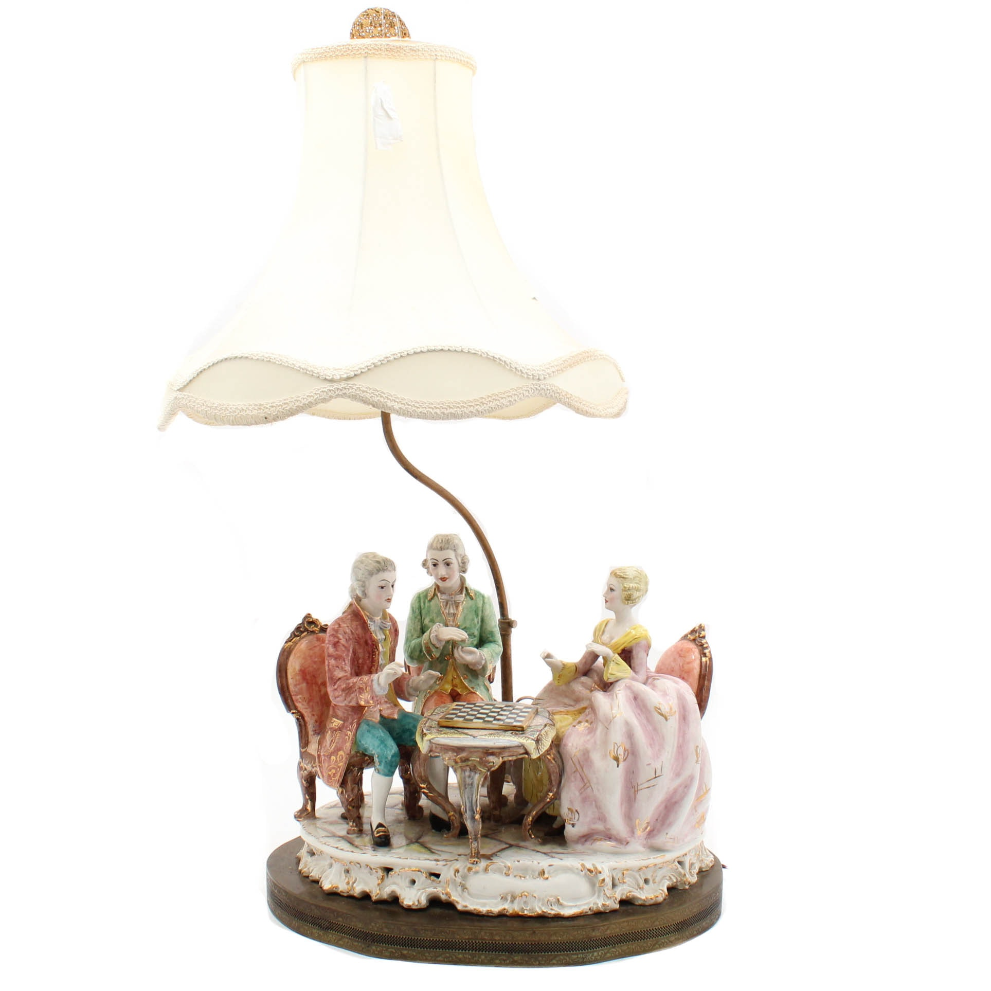 Antique Dresden Style Figural Lamp