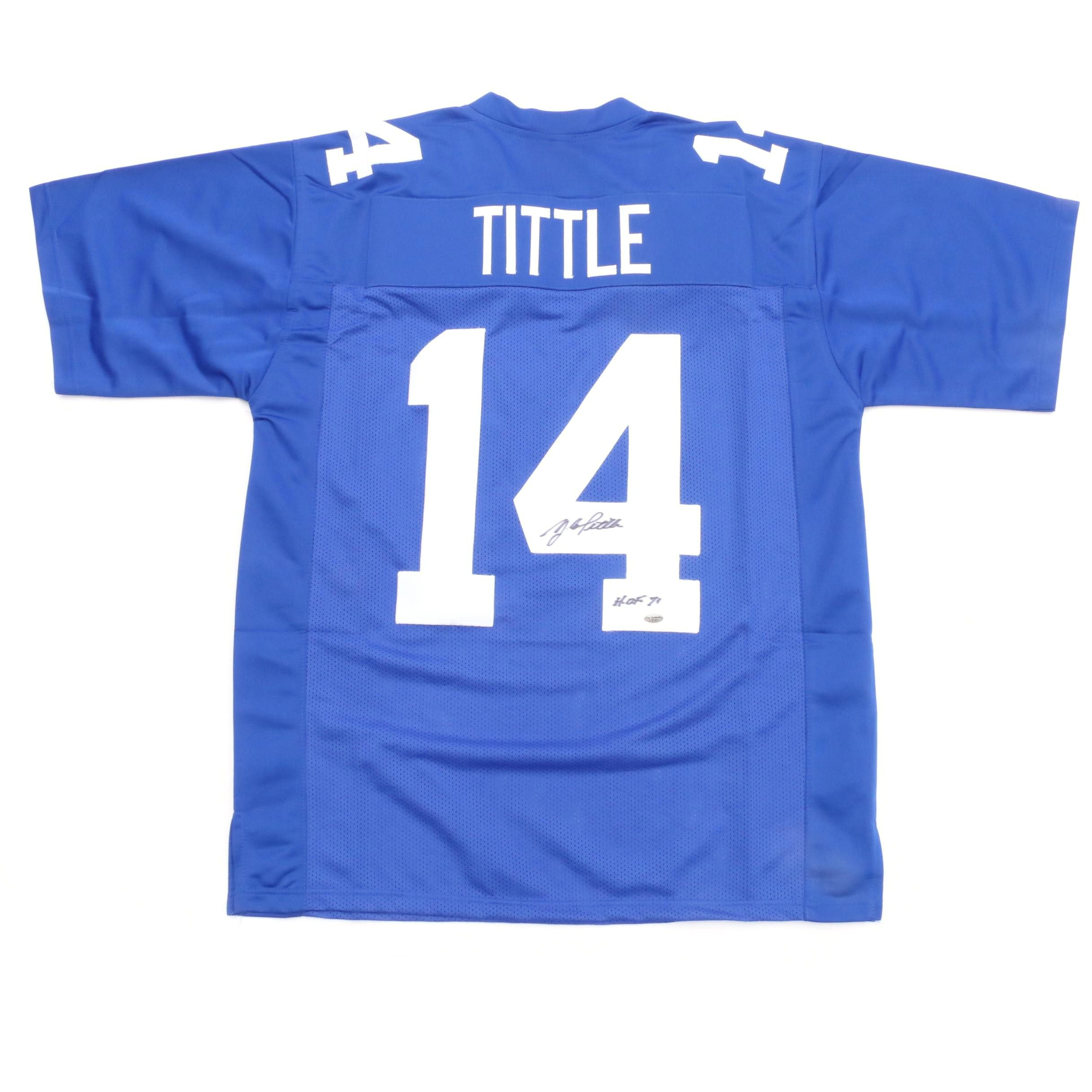 Y.A. Tittle Signed Jersey  COA