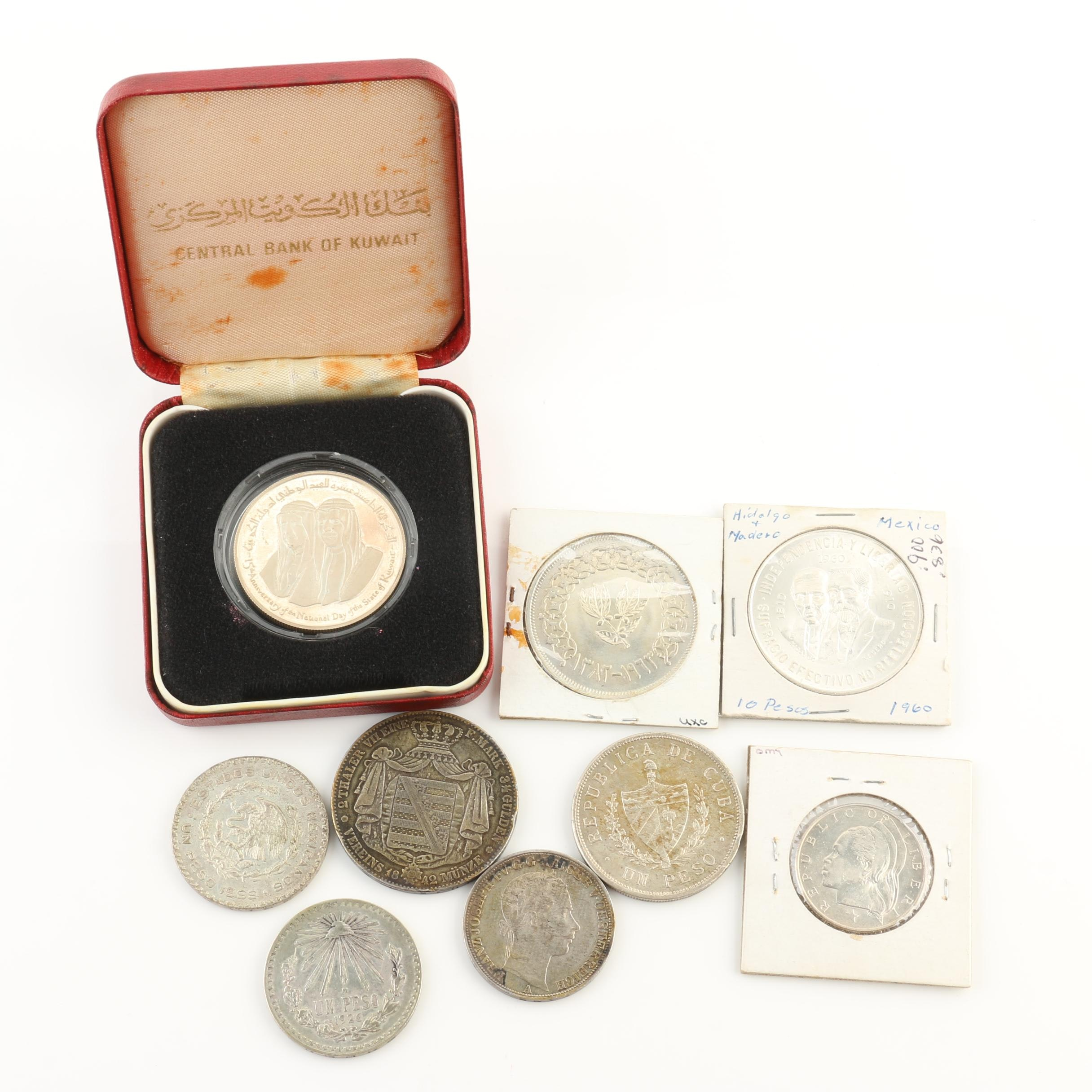 Group of Nine Foreign Silver Coins