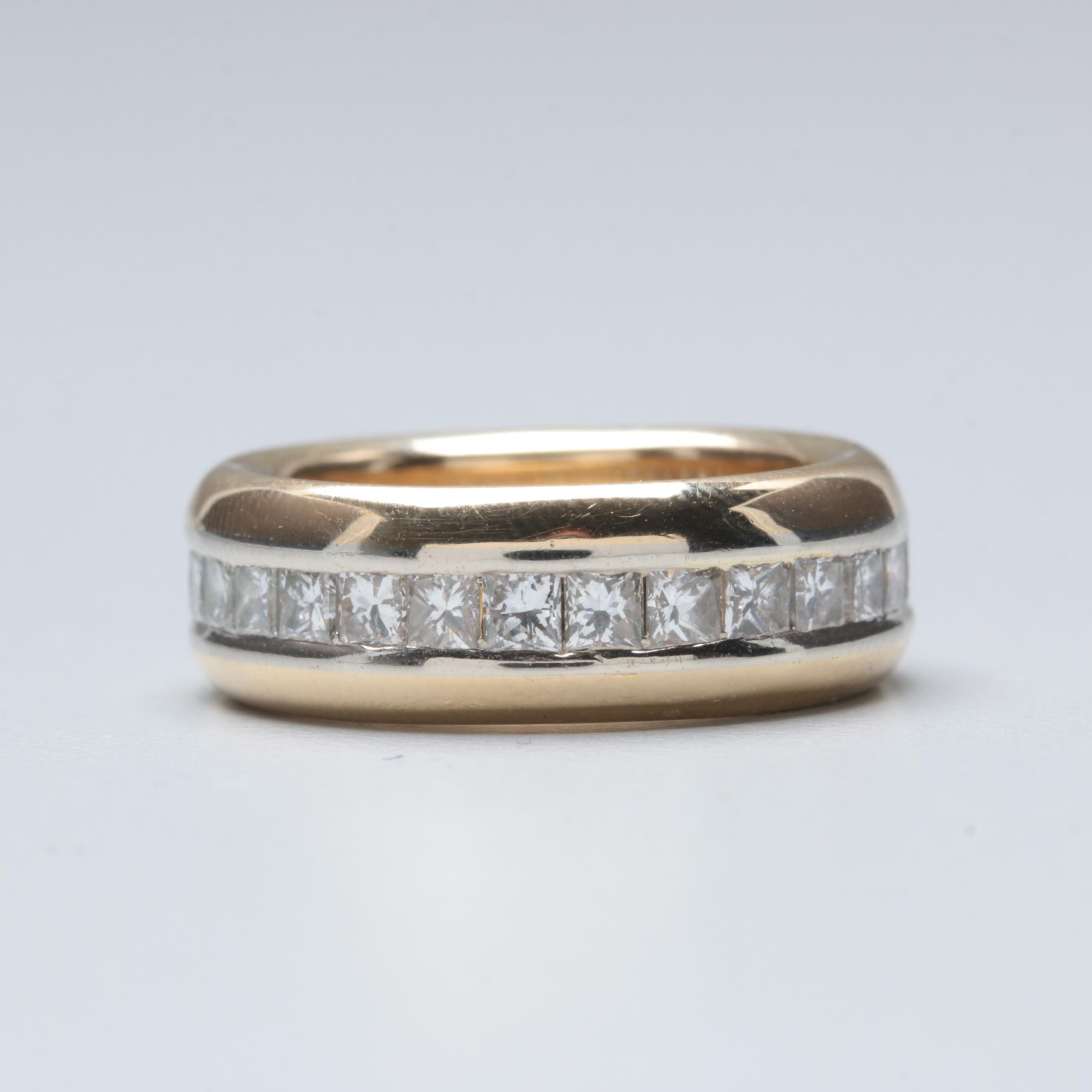 18K Yellow Gold 1.68 CTW Diamond Eternity Ring