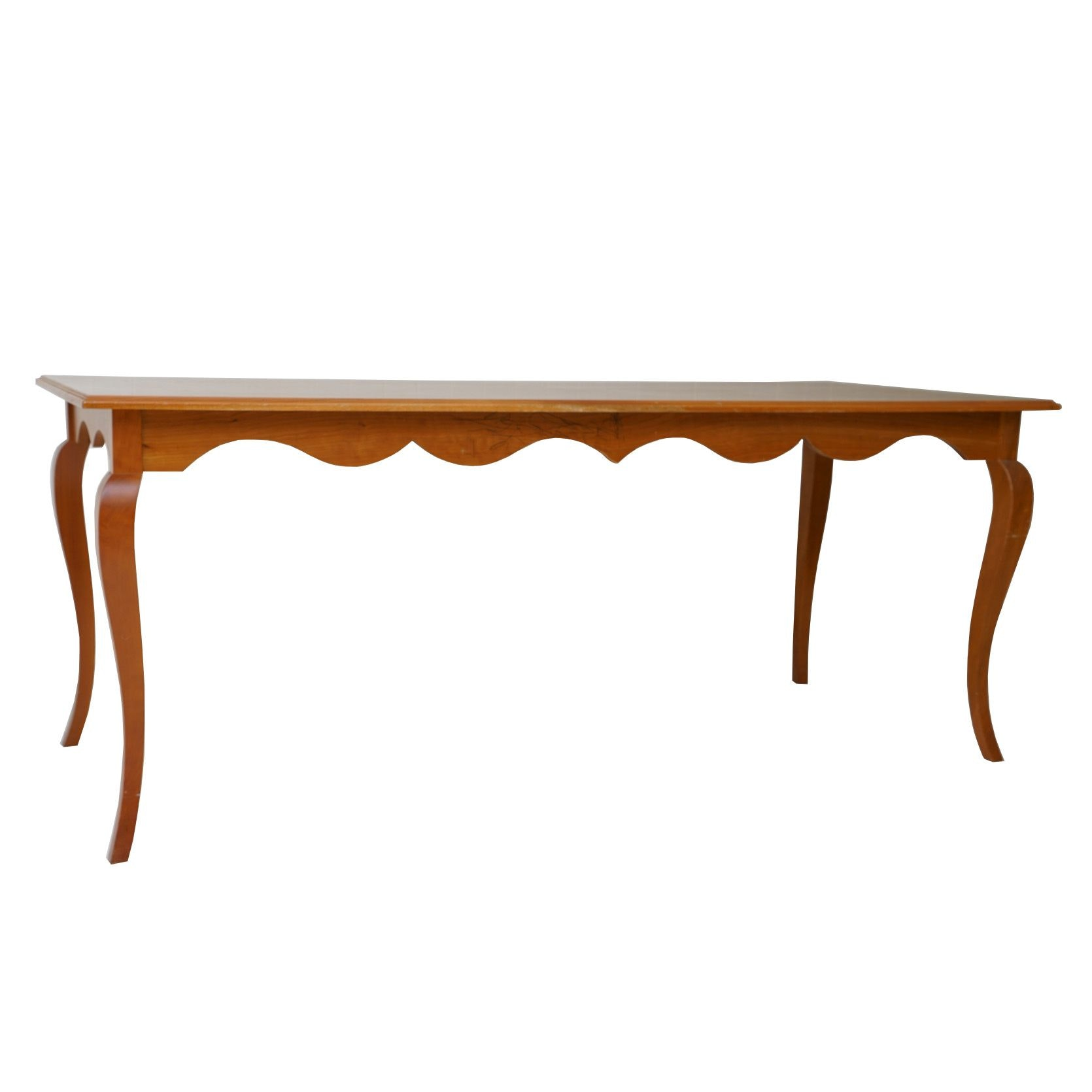 French Provincial Style Walnut Dining Table