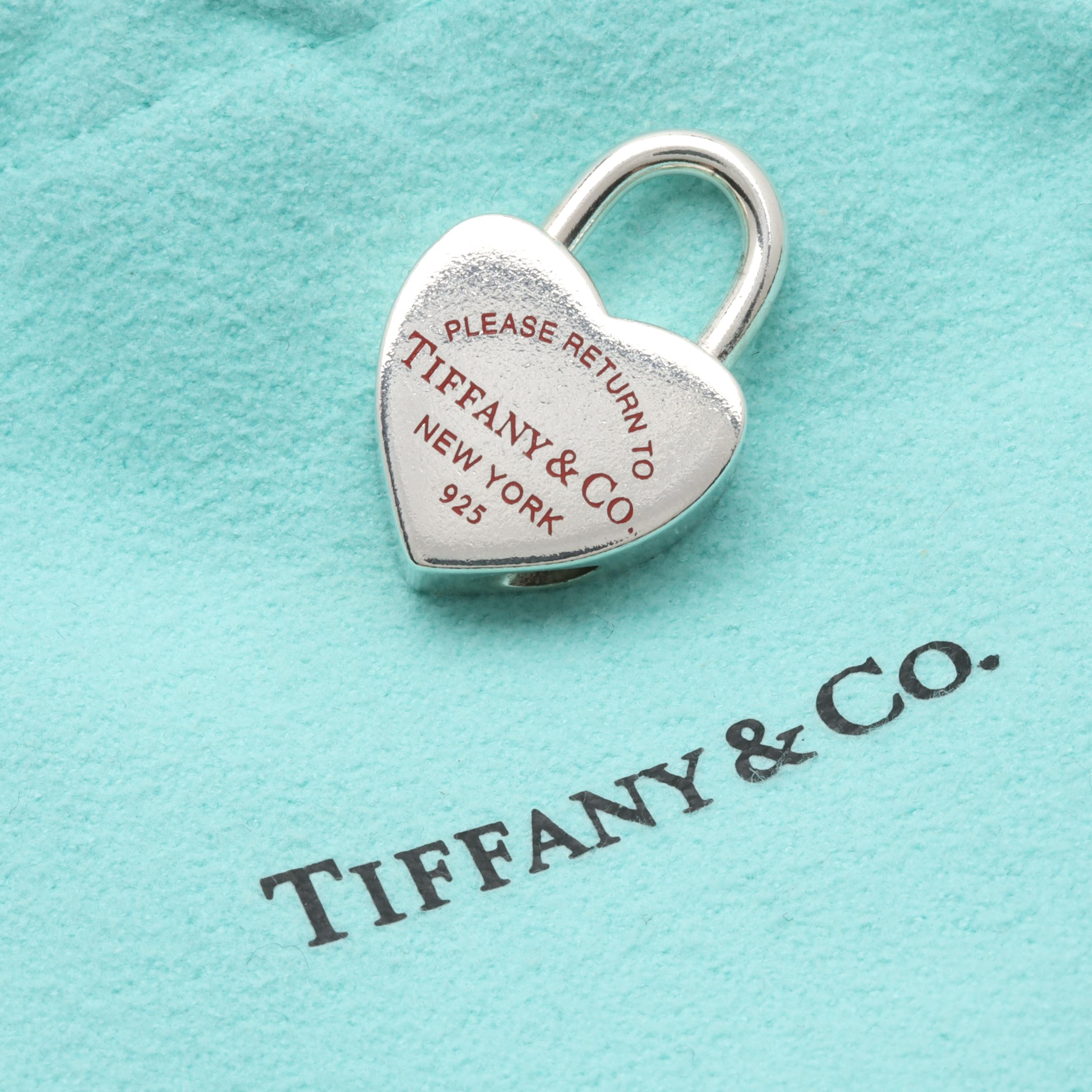 "Tiffany & Co. Sterling Silver Locking Heart Charm ""Return to Tiffany"" Collection"