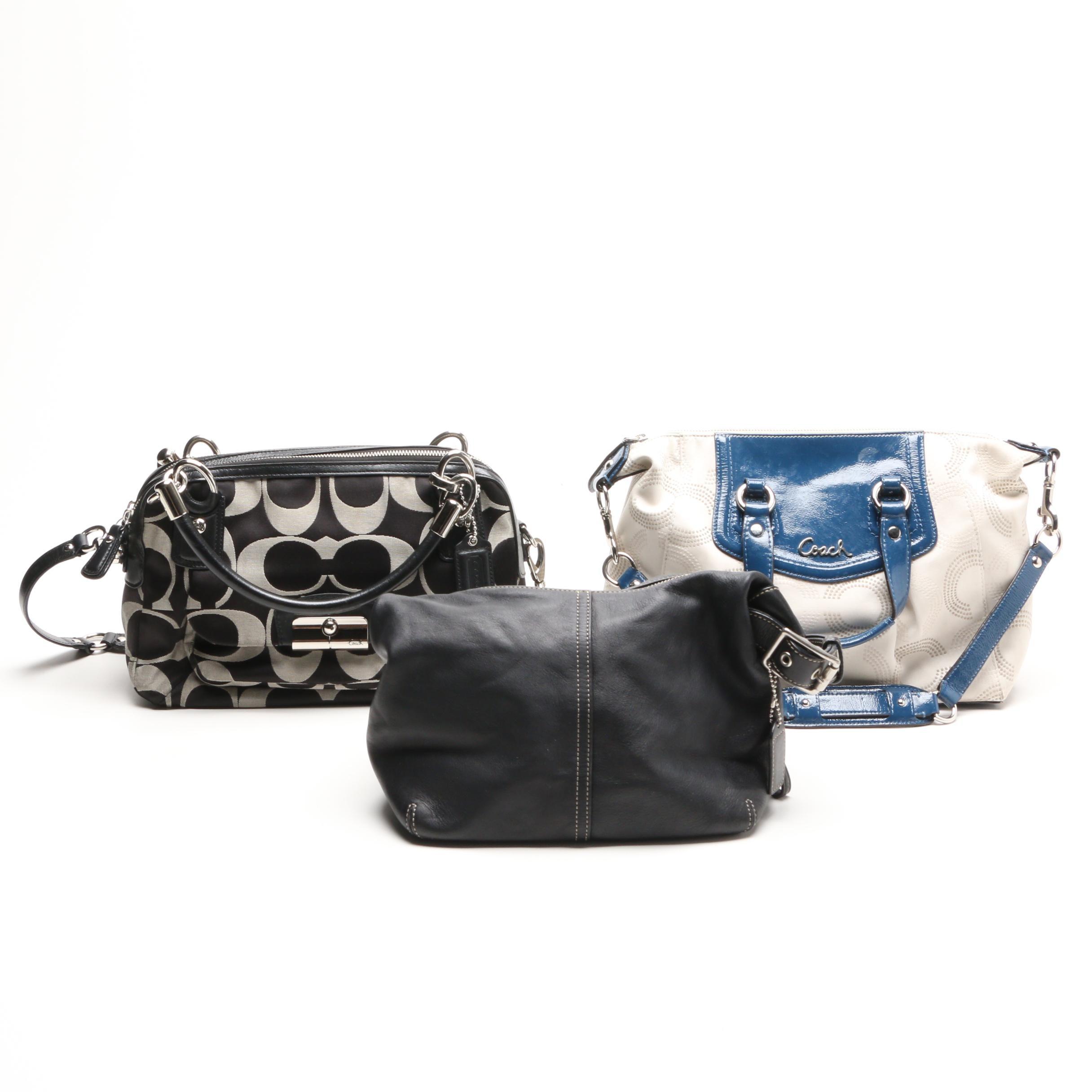 Coach Kristin Signature Double Zip Satchel and Other Handbags