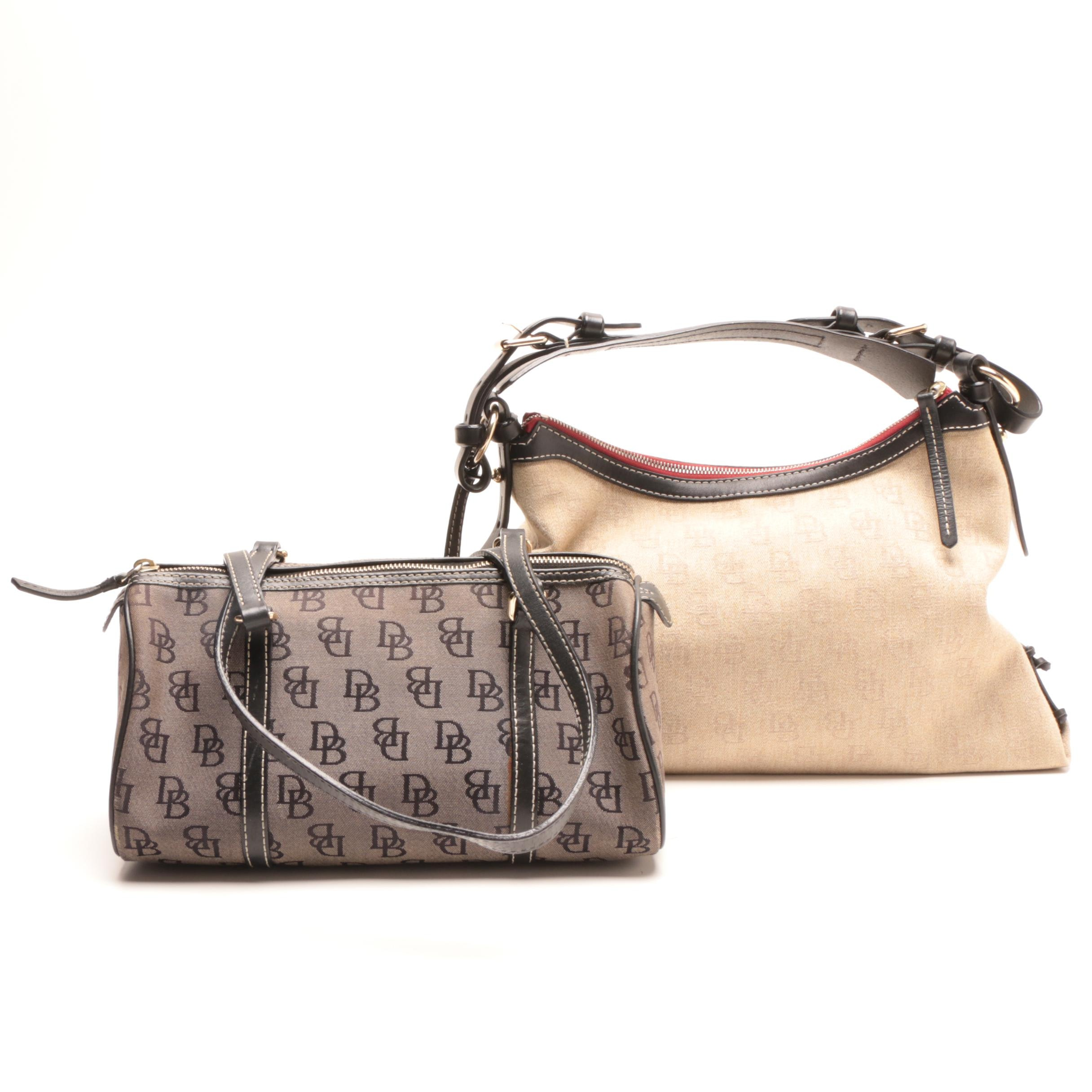 Dooney & Bourke Signature Monogram Canvas and Leather Handbags