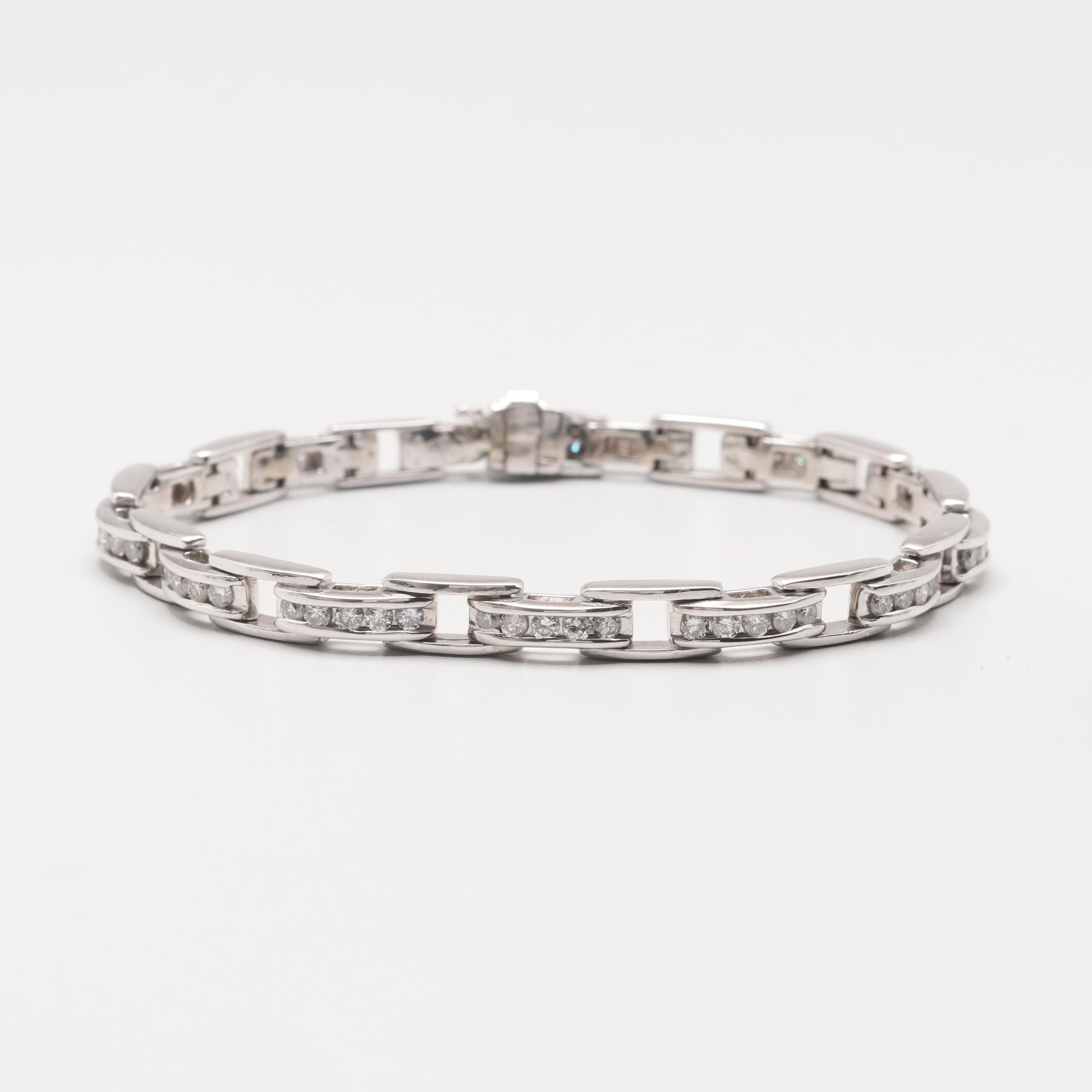 14K White Gold 1.97 CTW Diamond Bracelet