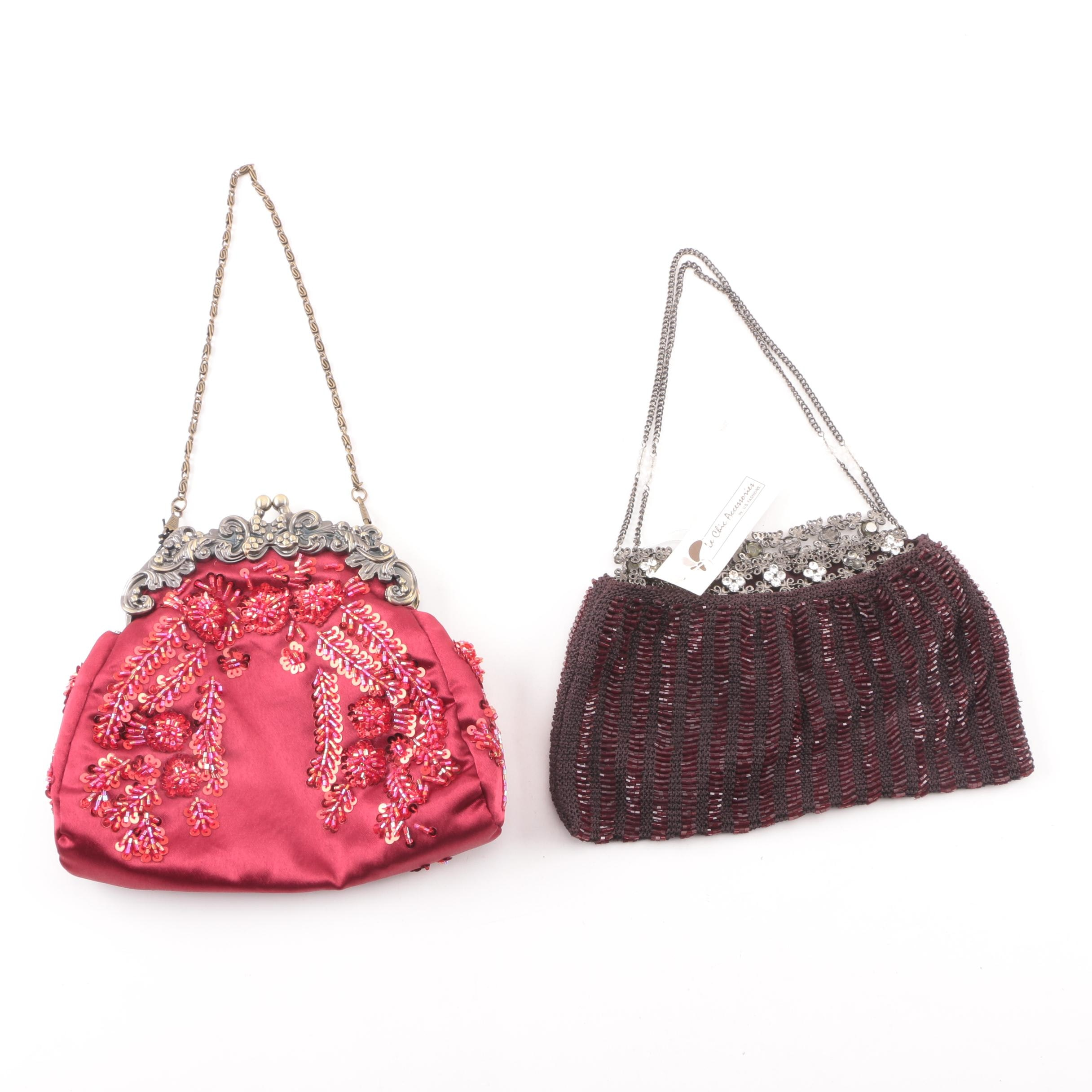 Mad Bags and Le Chic Accessories by U.S. Fashions Embellished Evening Bags
