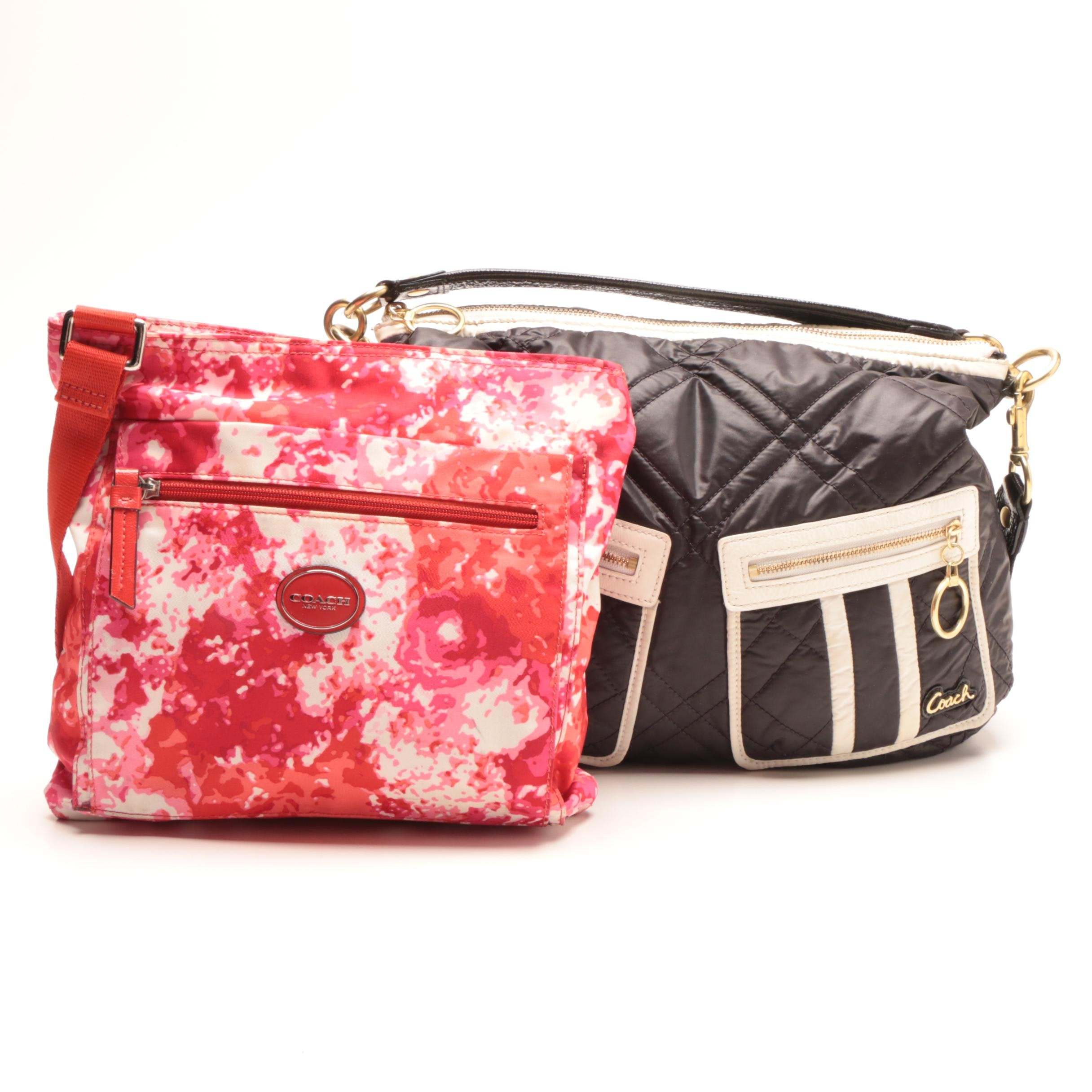 Coach Poppy Ski Bunny Hobo Bag and Floral Getaway Crossbody Bag