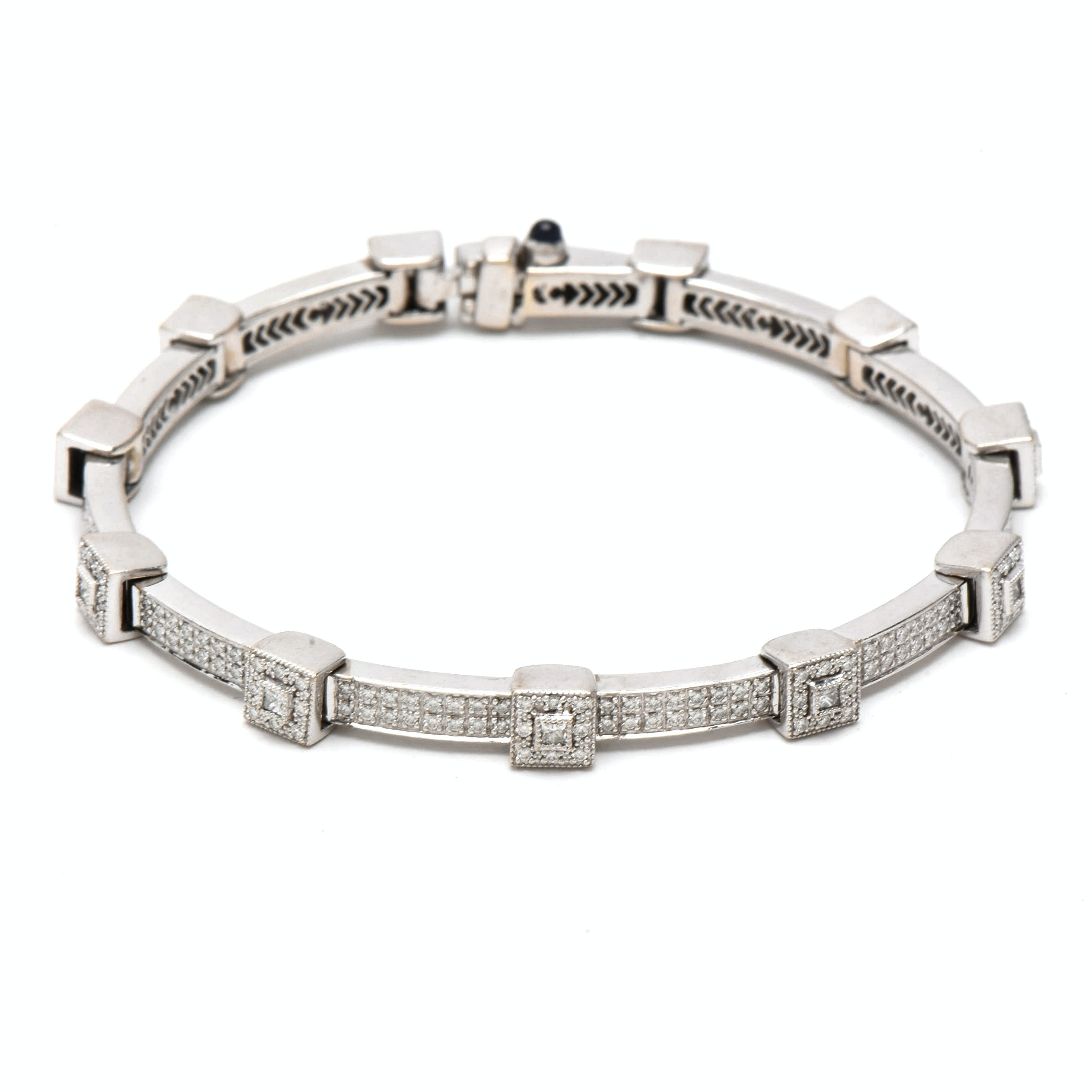 Charriol 18K White Gold 2.08 CTW Diamond Bracelet