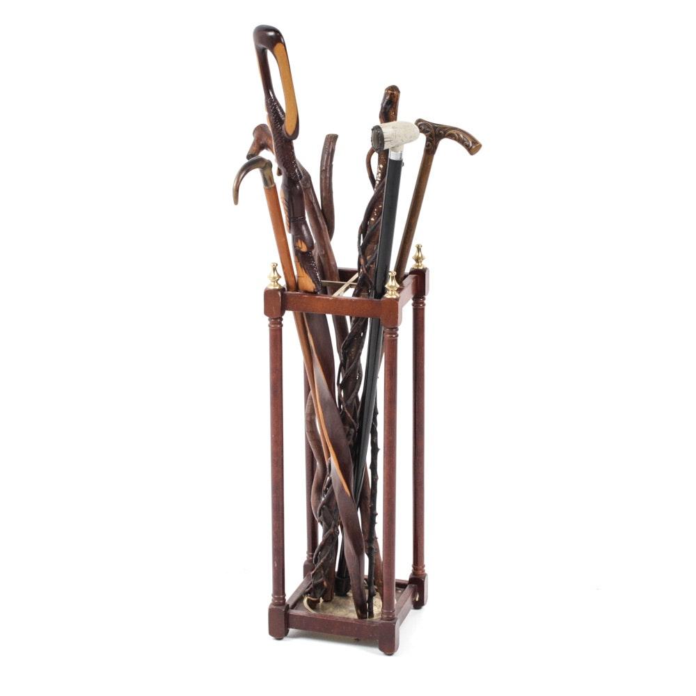Vintage and Handmade Walking Sticks