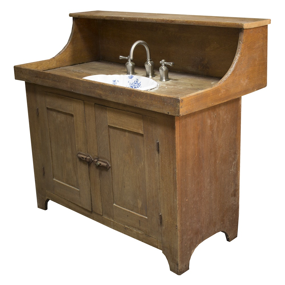 Retrofitted Antique Dry Sink