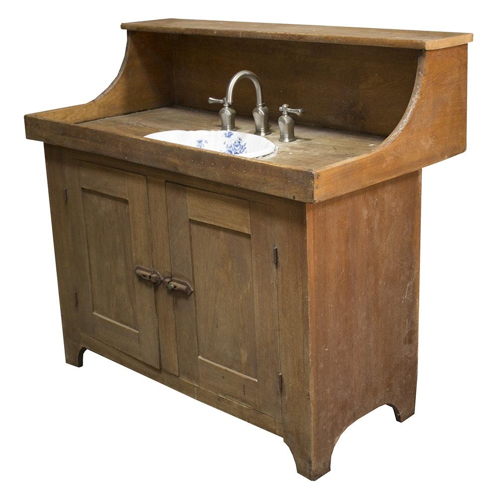 Retrofitted Antique Dry Sink