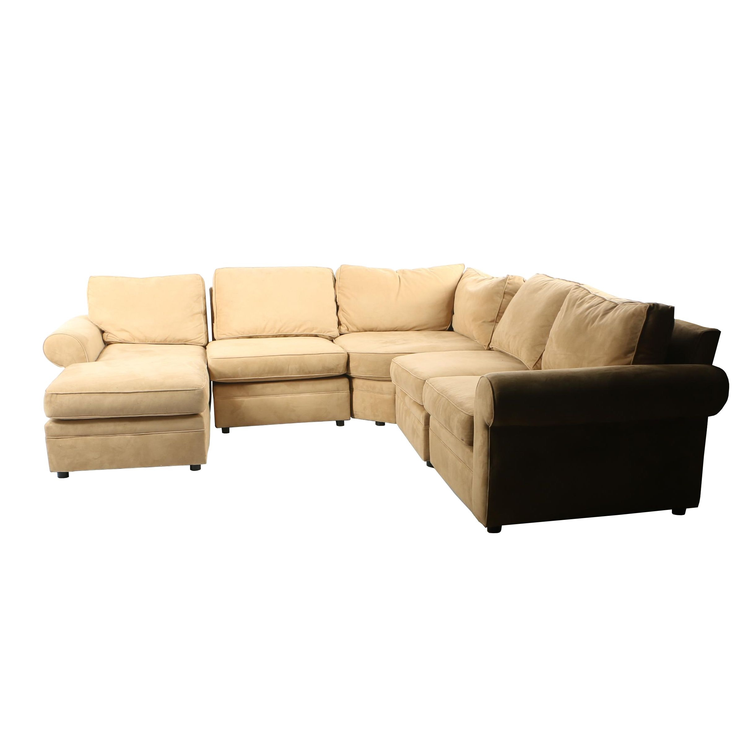 Tan Five Piece Sectional by Pottery Barn