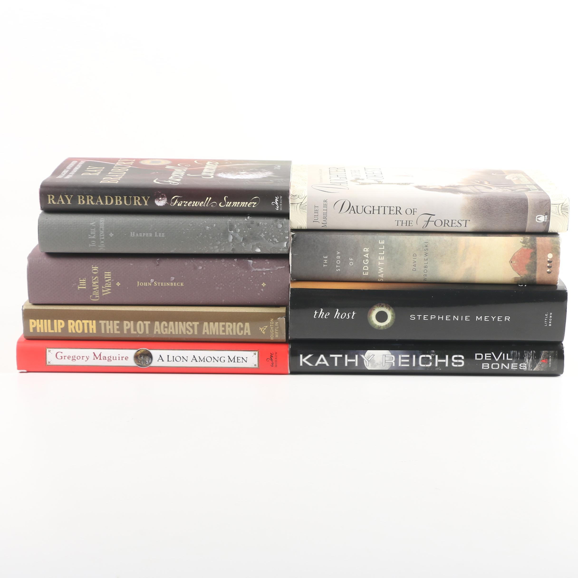 Fiction Books including Harper Lee, John Steinbeck, Philip Roth and Ray Bradbury