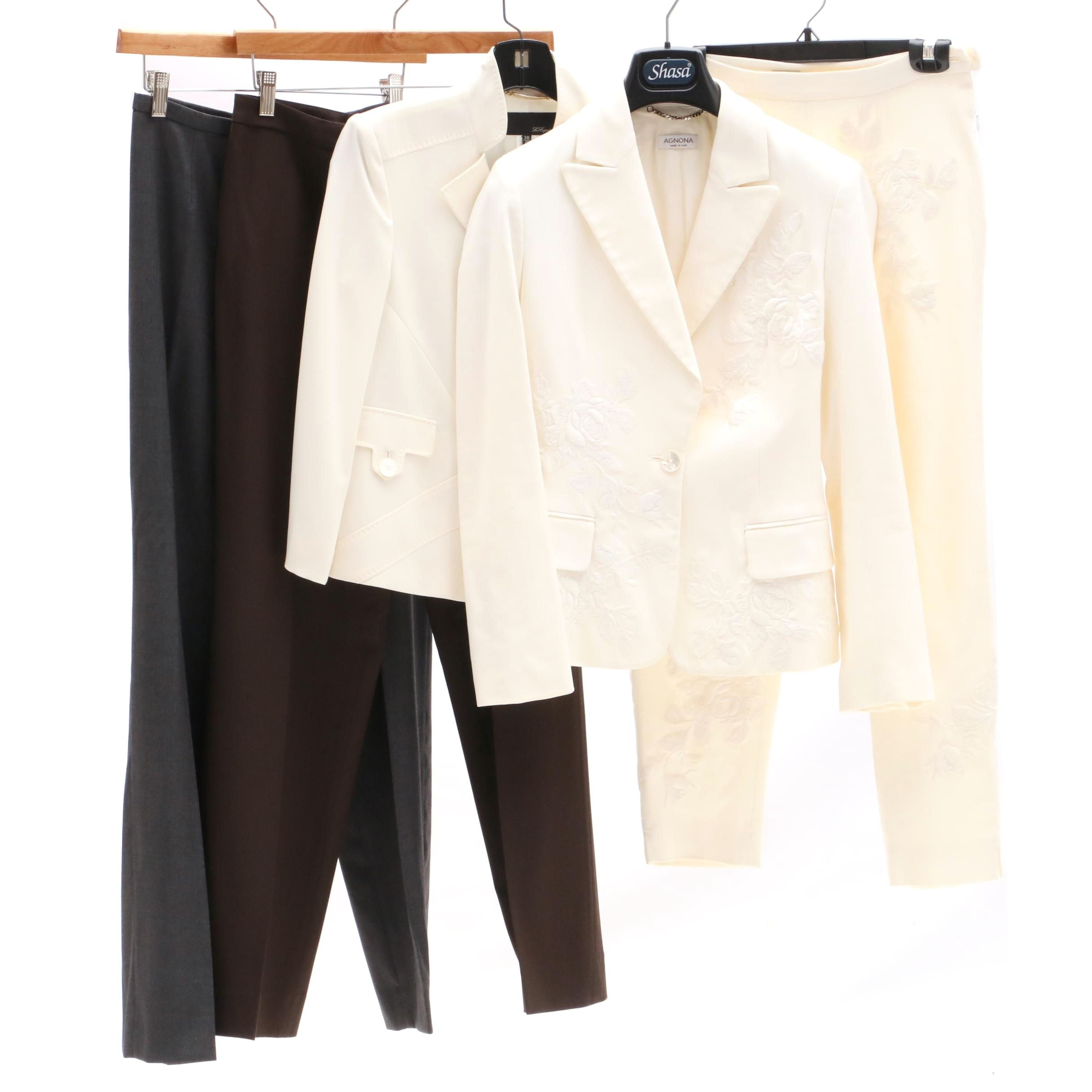 Agona Embroidered Suit and Les Copains Clothing Separates