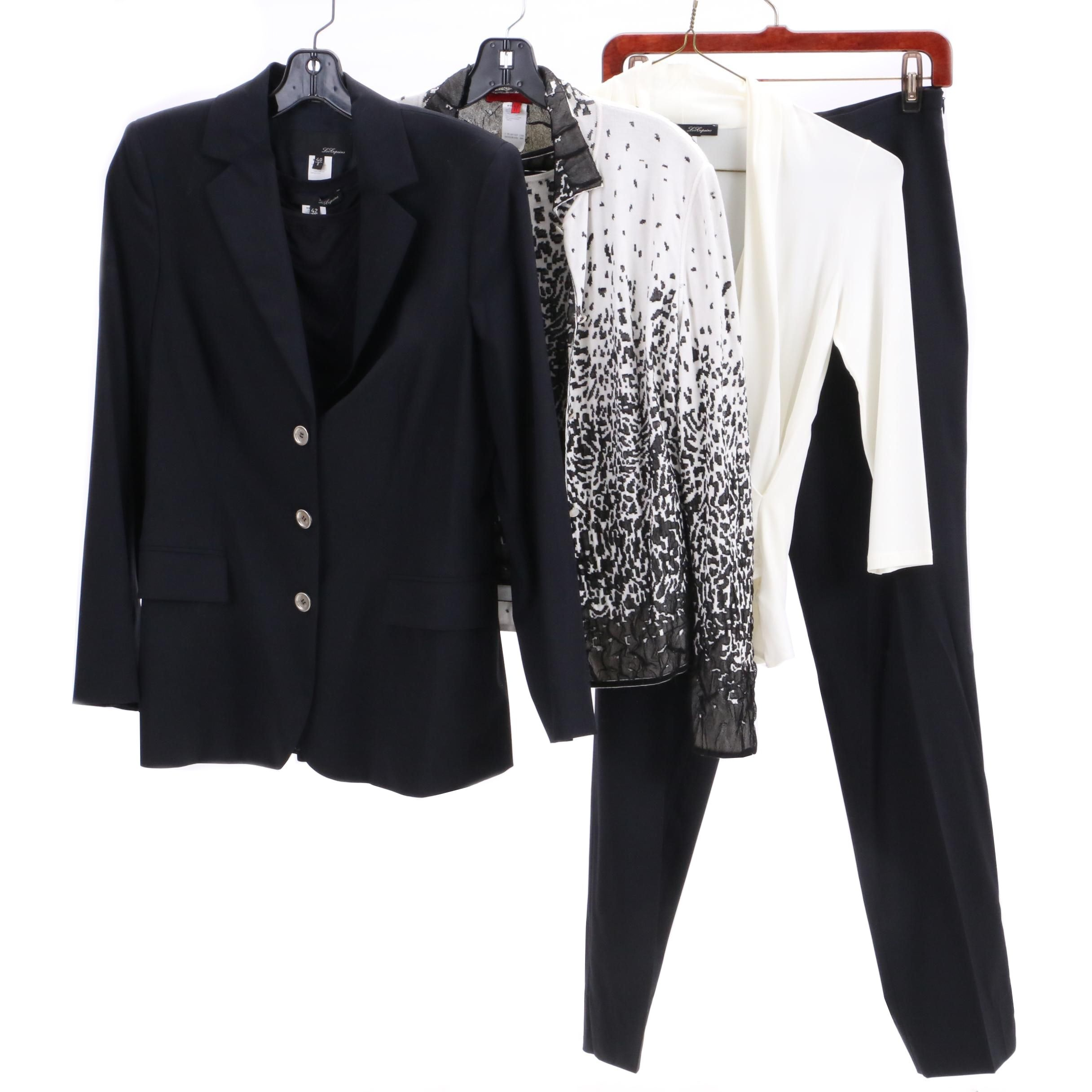Les Copains Black Wool Blend Suit and Other Clothing Separates