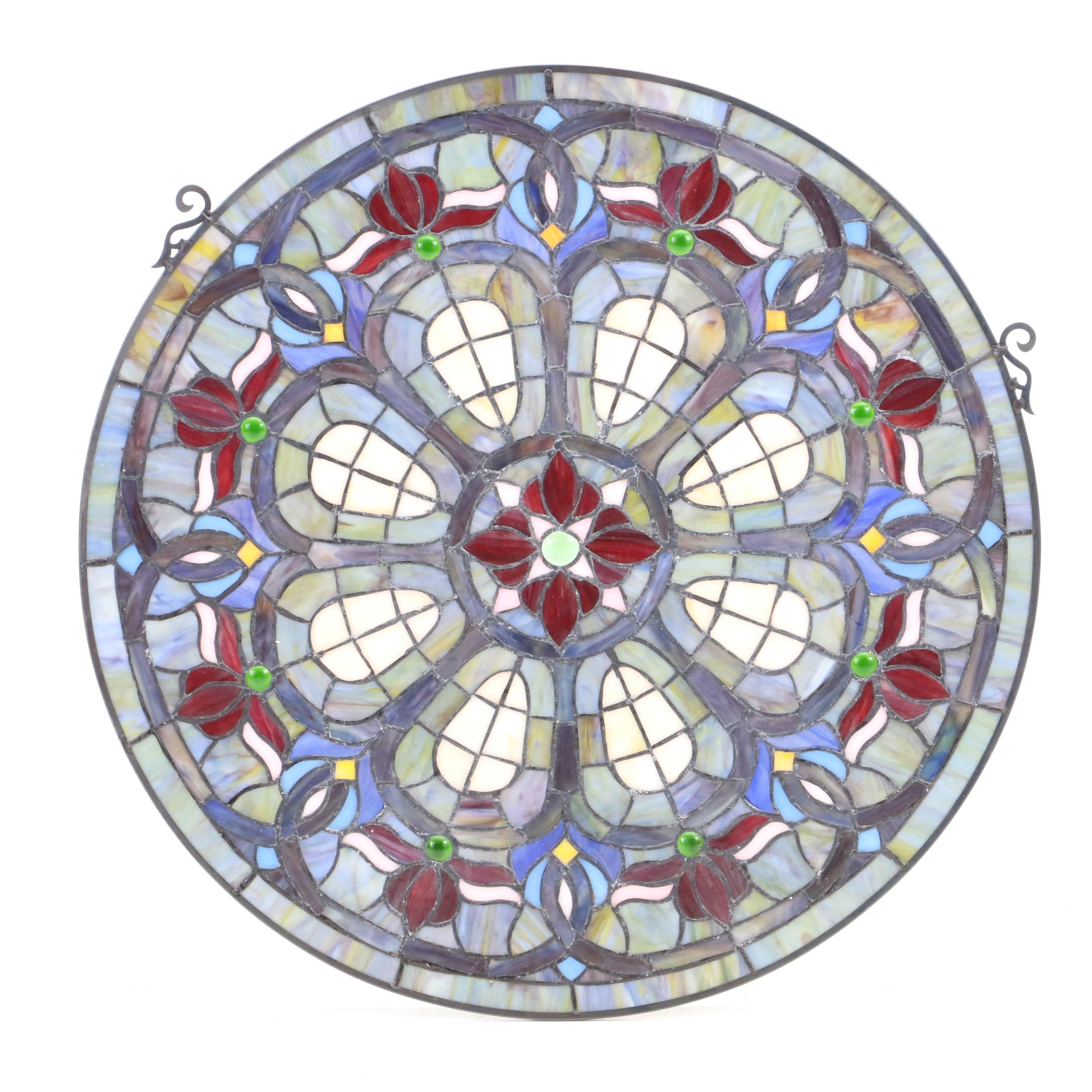 Stain Glass Floral Hanging Décor