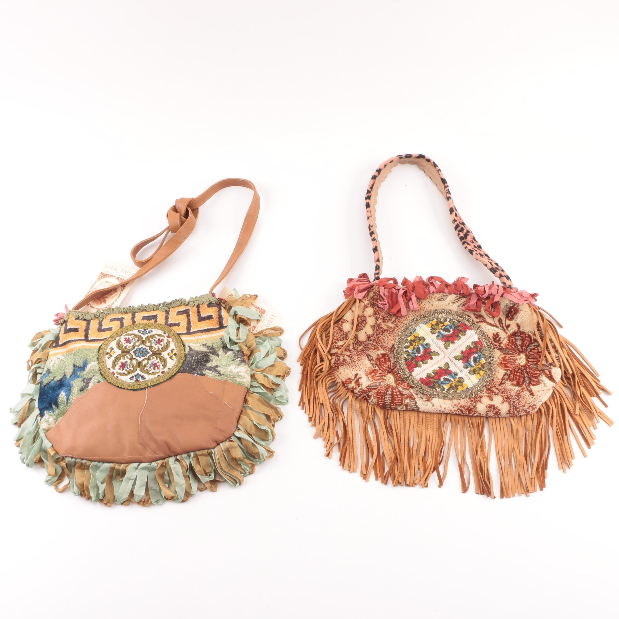 Pure West by Cheryl Long Mixed Media Handbags