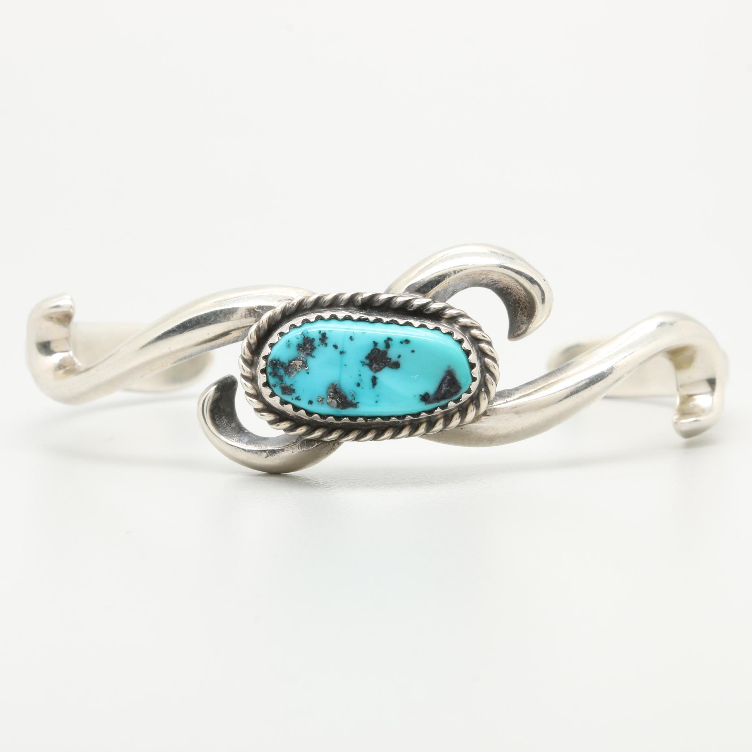 Francis L. Begay Navajo Diné Sterling Silver Turquoise Bracelet