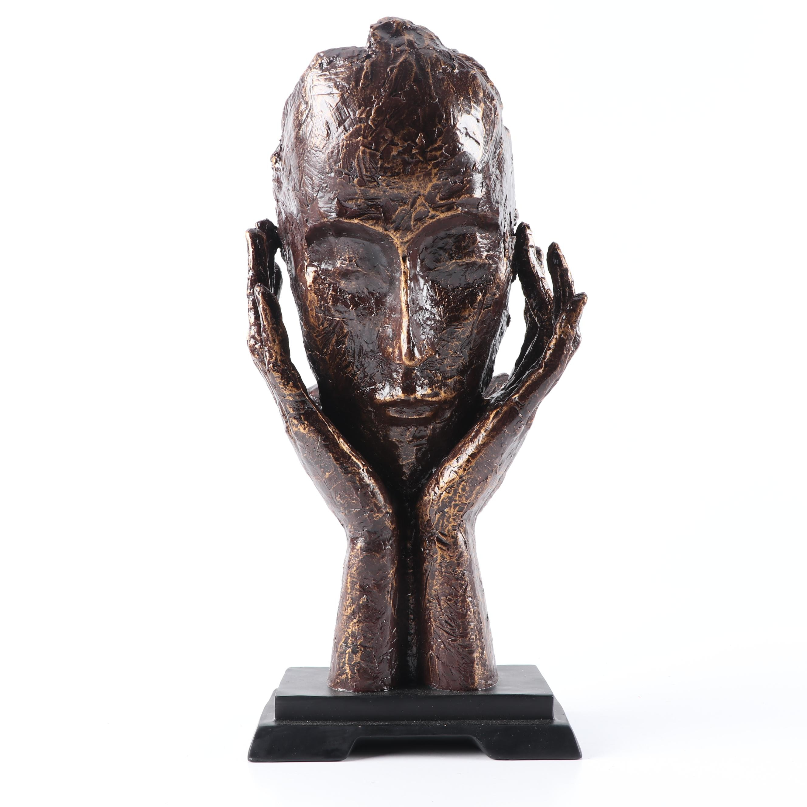 Cast Resin Sculpture of Face